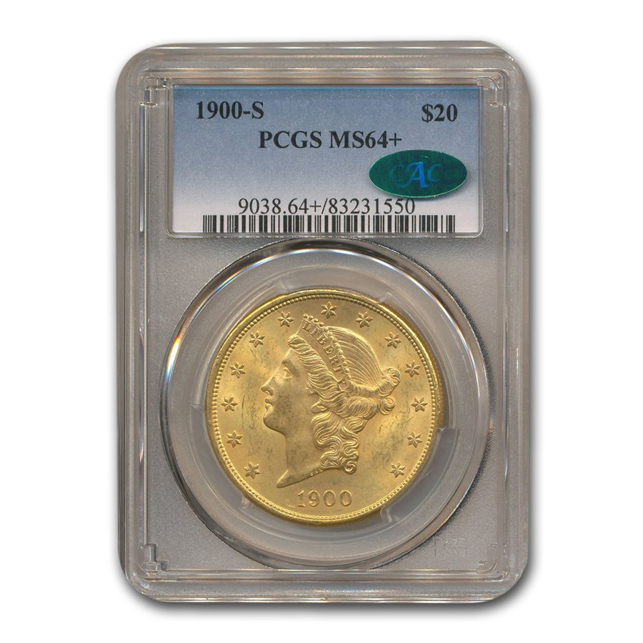 1900-S $20 Liberty Gold Double Eagle MS-64+ PCGS CAC