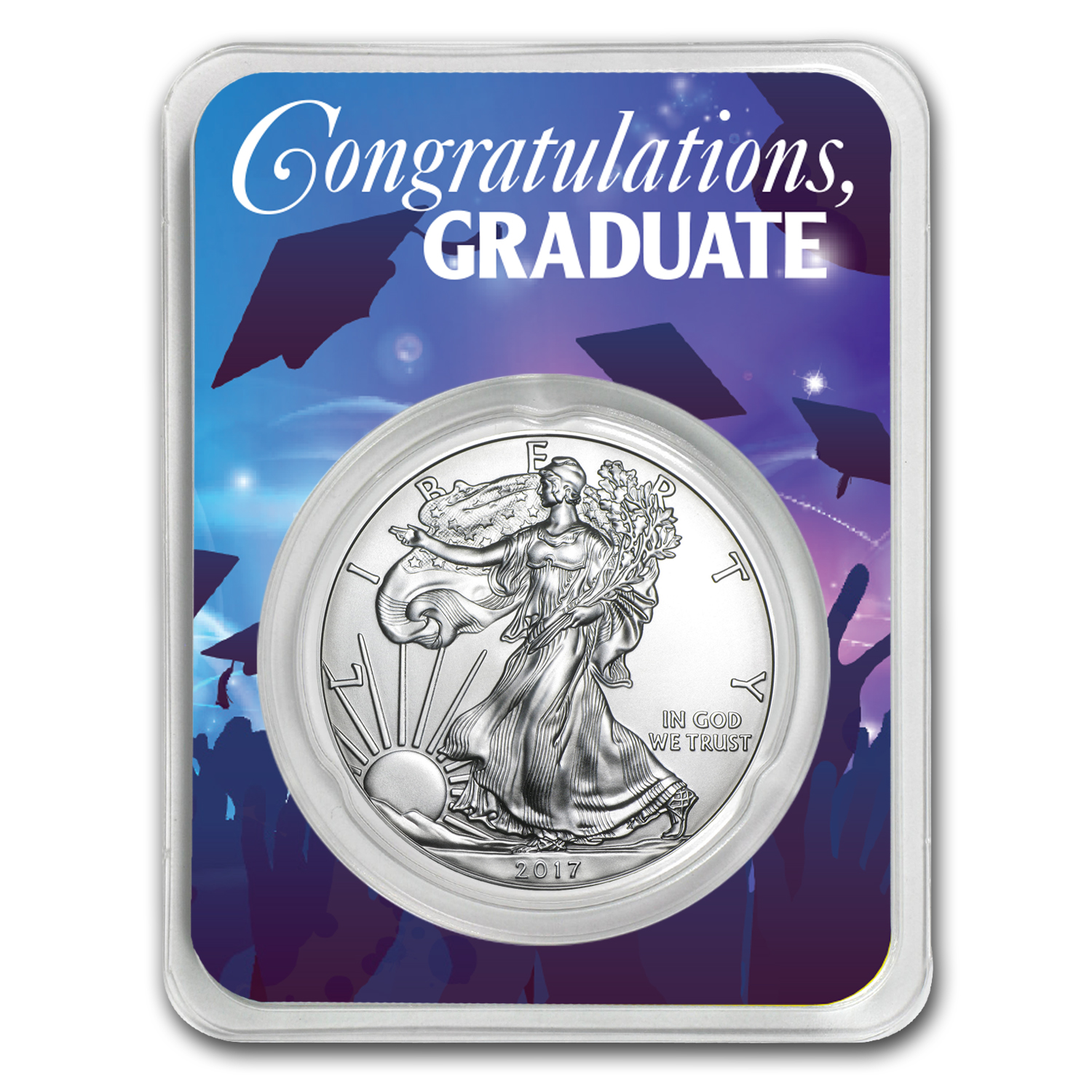 2017 1 oz Silver American Eagle - Graduation Party