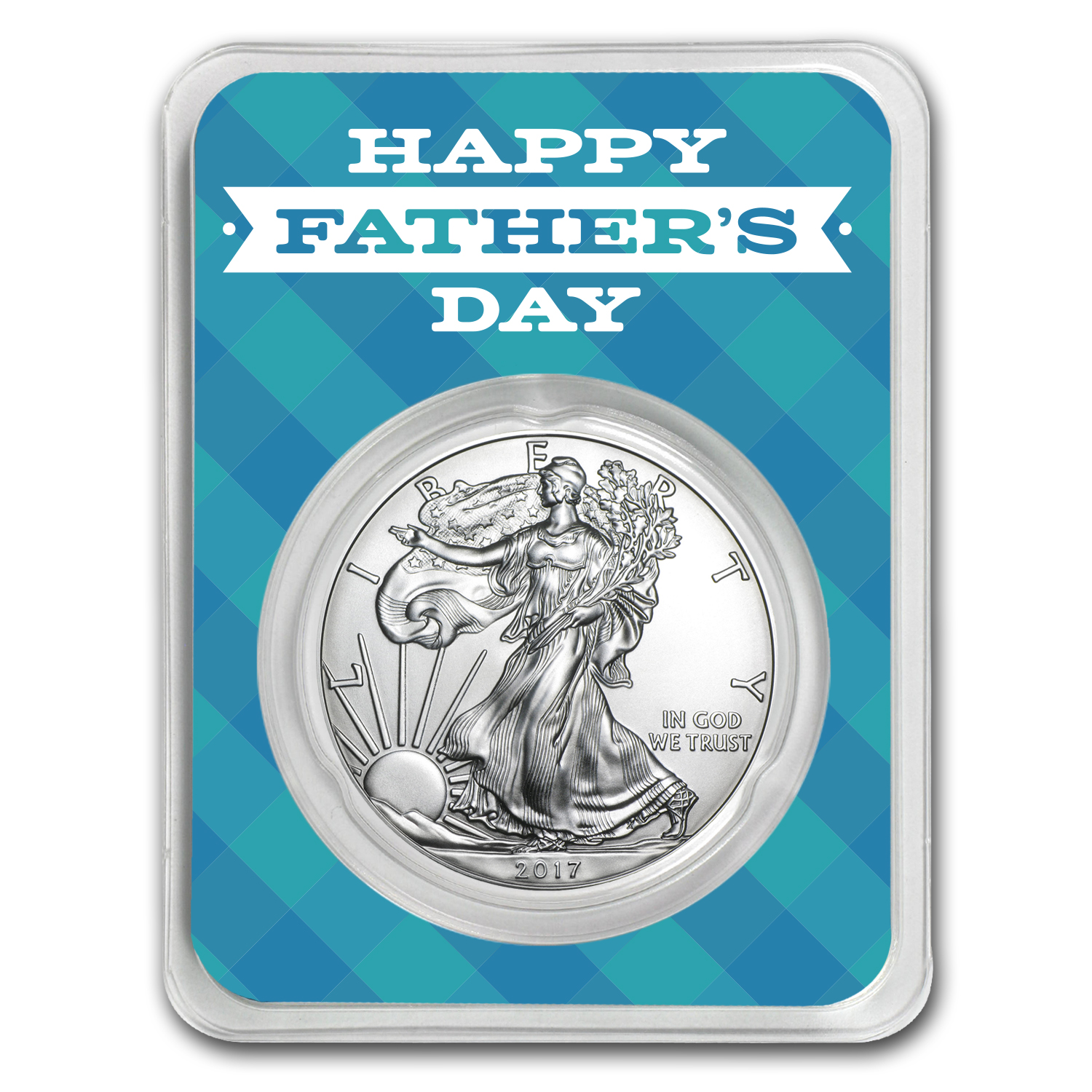2017 1 oz Silver American Eagle - Father's Day Plaid