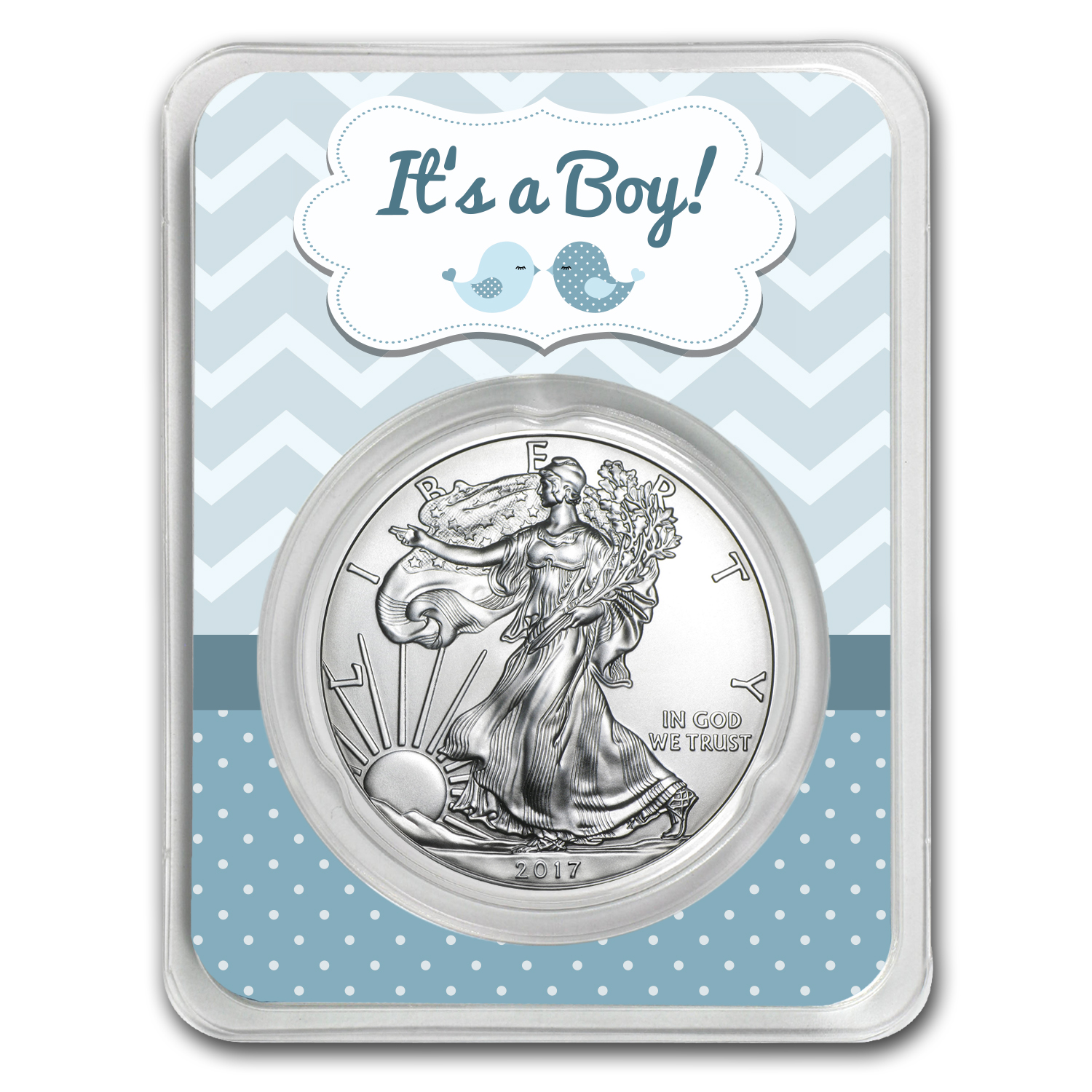 2017 1 oz Silver American Eagle - It's A Boy