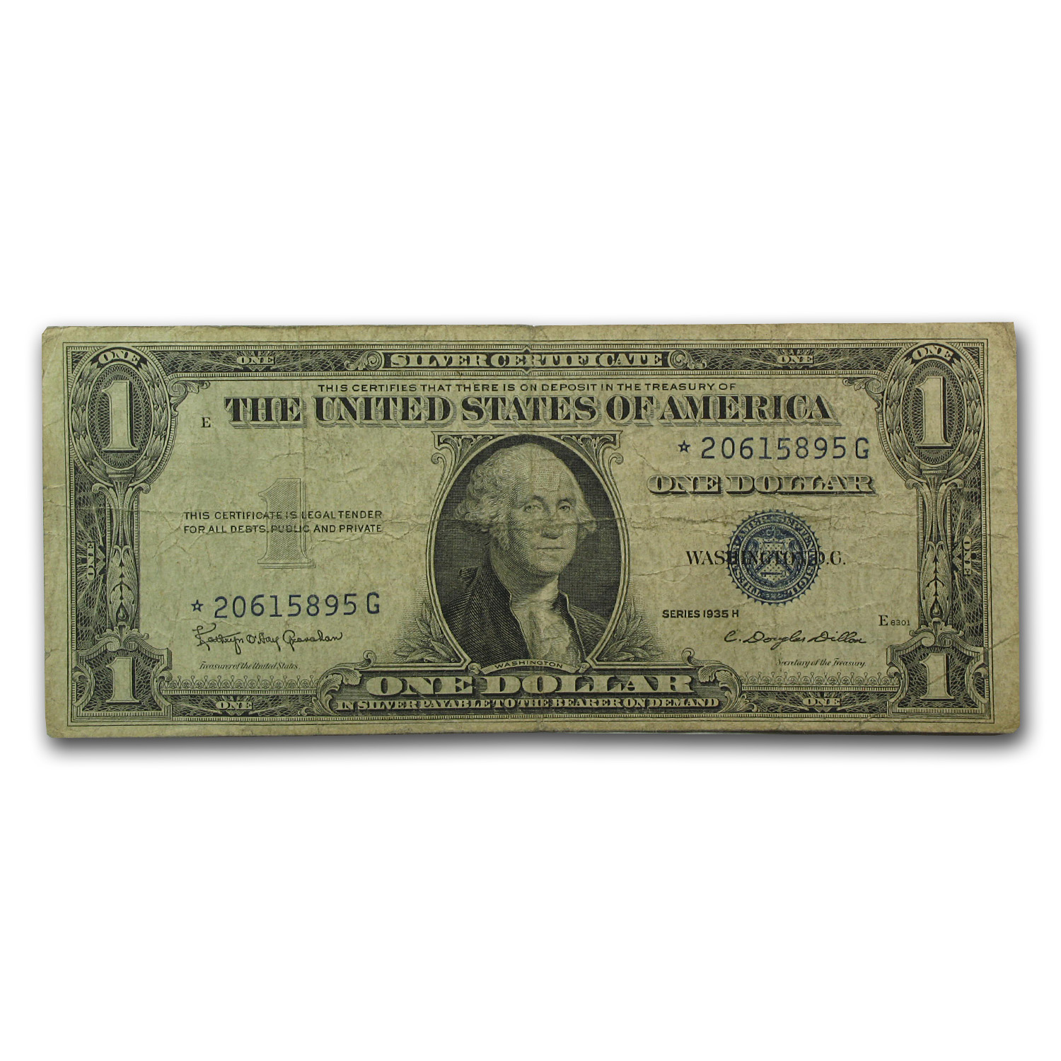 1935-H* $1.00 Silver Certificate (Average Circulated)