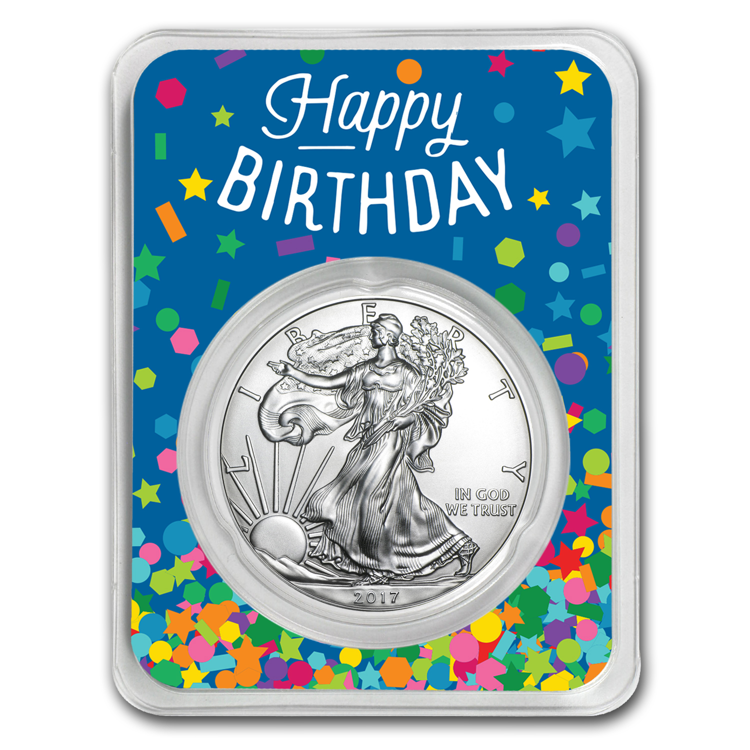 2017 1 oz Silver American Eagle - Birthday Confetti