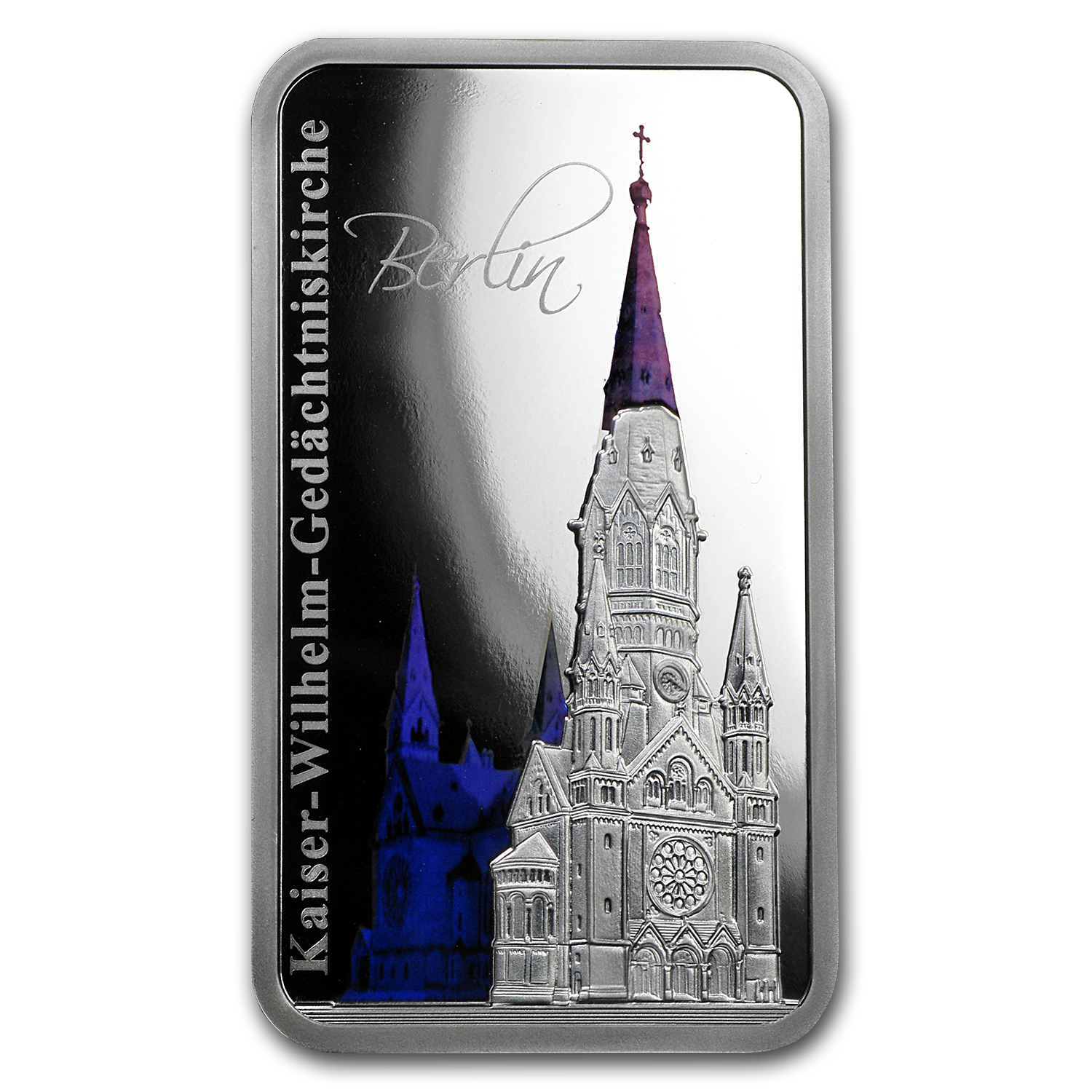 2017 Solomon Islds 1 oz Silver $2 Hologram Memorial Church Berlin