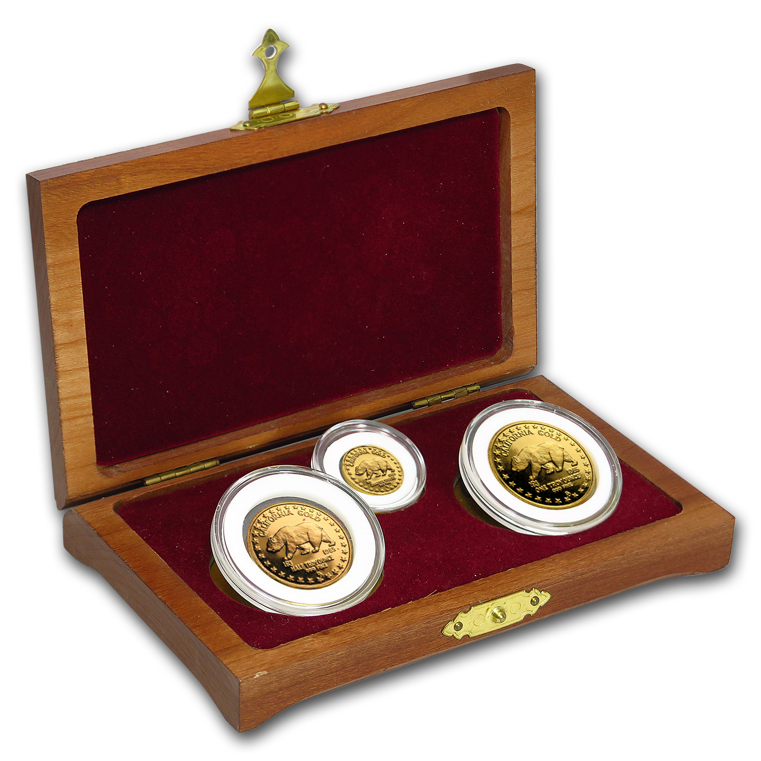 1984 Great Seal of California 3-Piece Gold Set