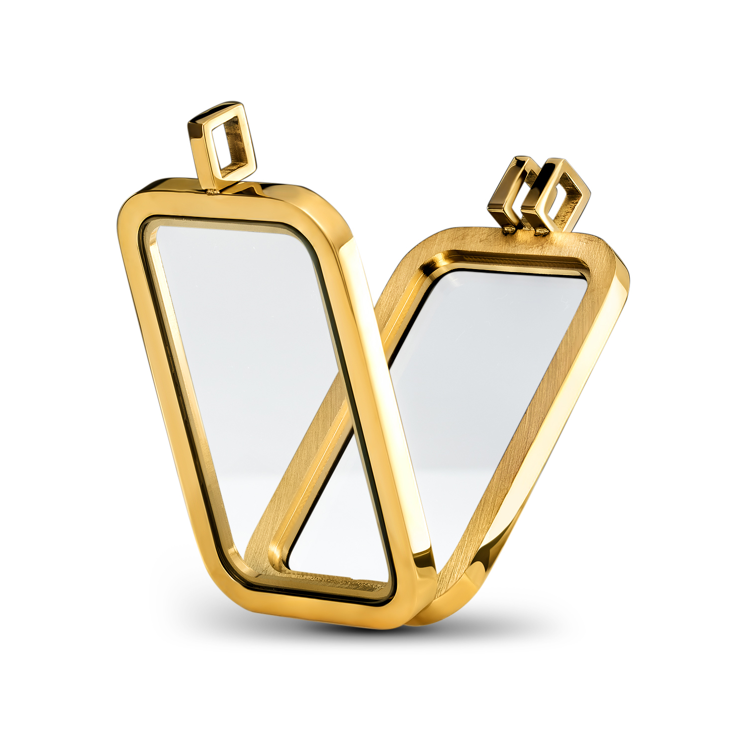 Gold-Plated Stainless Steel Plain-Front Bezel (1 oz Gold Bar)