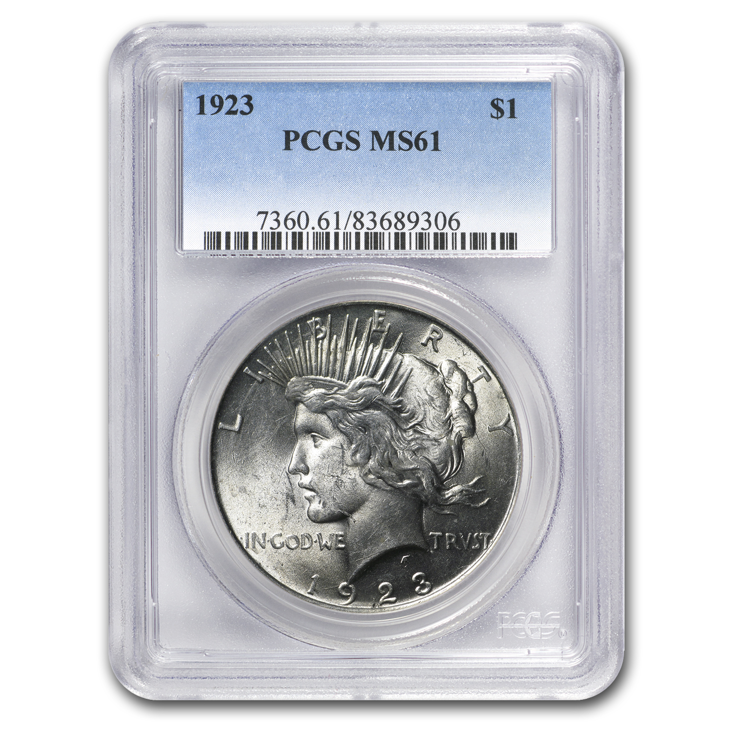 1923 Peace Dollar MS-61 PCGS (VAM-1A, Whisker Jaw, Top-50)