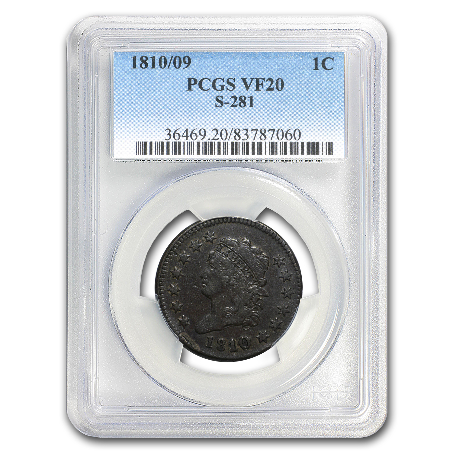 1810/09 Large Cent Fine VF-20 BN PCGS (S-281)