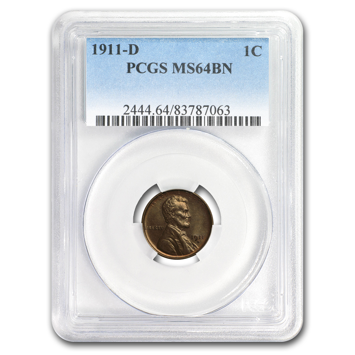1911-D Lincoln Cent MS-64 PCGS (Brown)