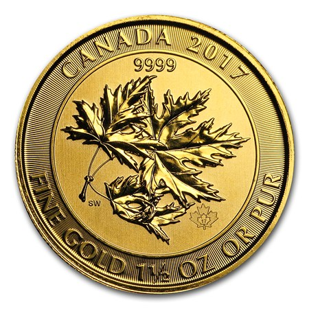 2017 Canada 1 5 Oz Gold 8 Superleaf Bu Canadian 1 5 Oz