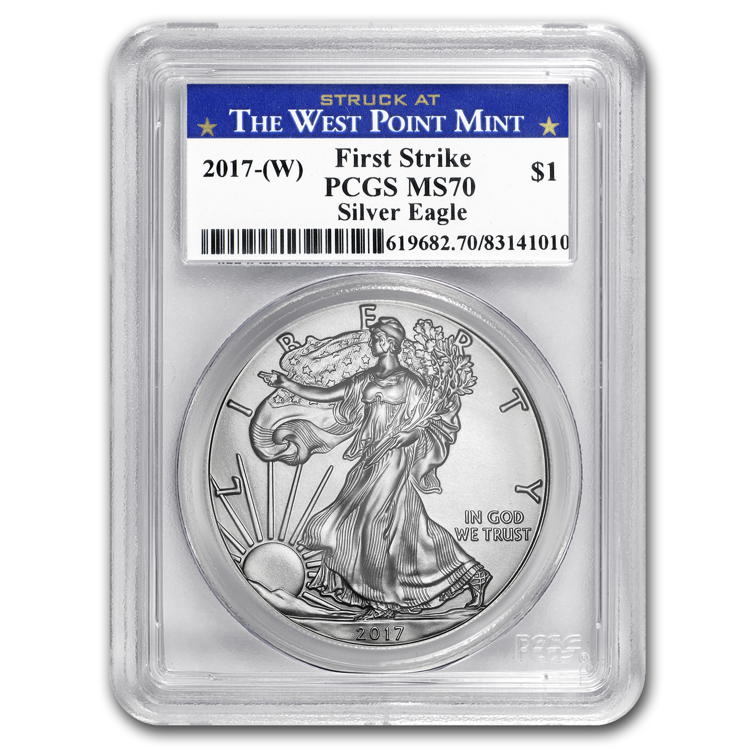 2017-(W) Silver American Eagle MS-70 PCGS (FS, West Point Mint)