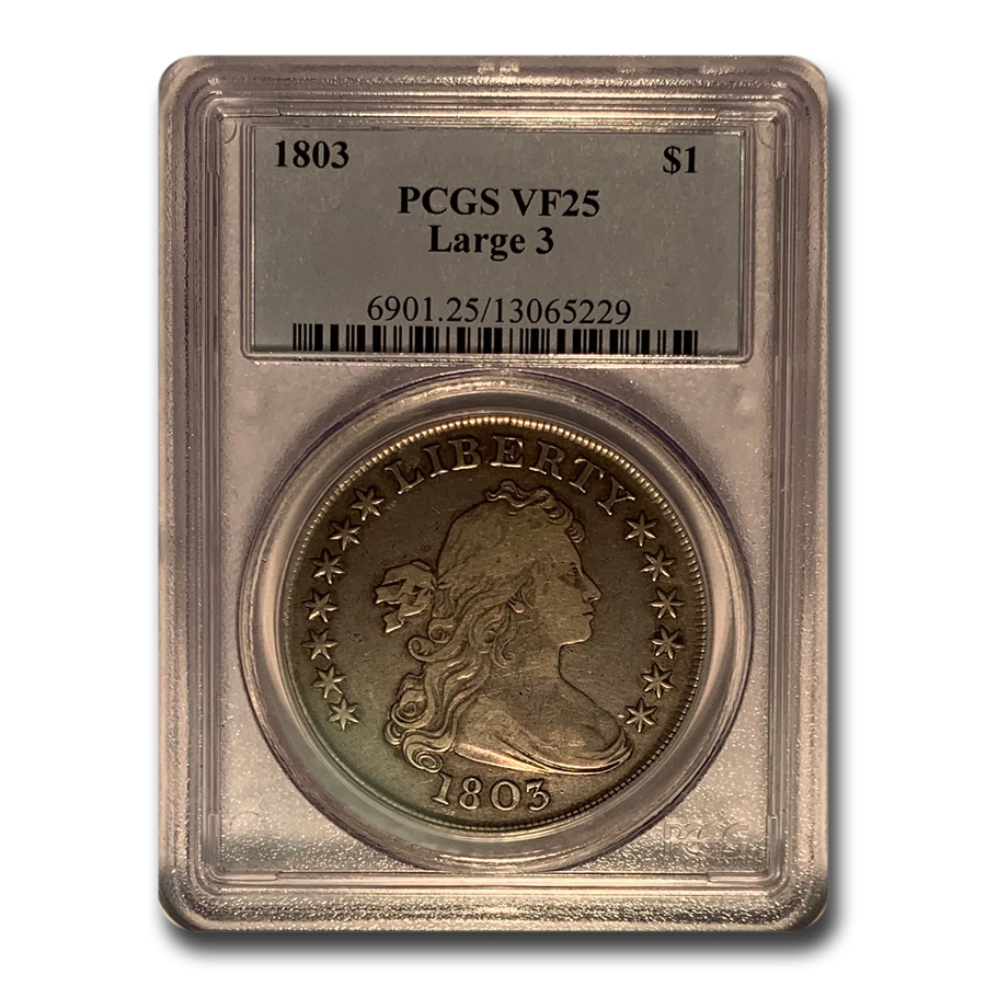 1803 Draped Bust Dollar VF-25 PCGS (Large 3)
