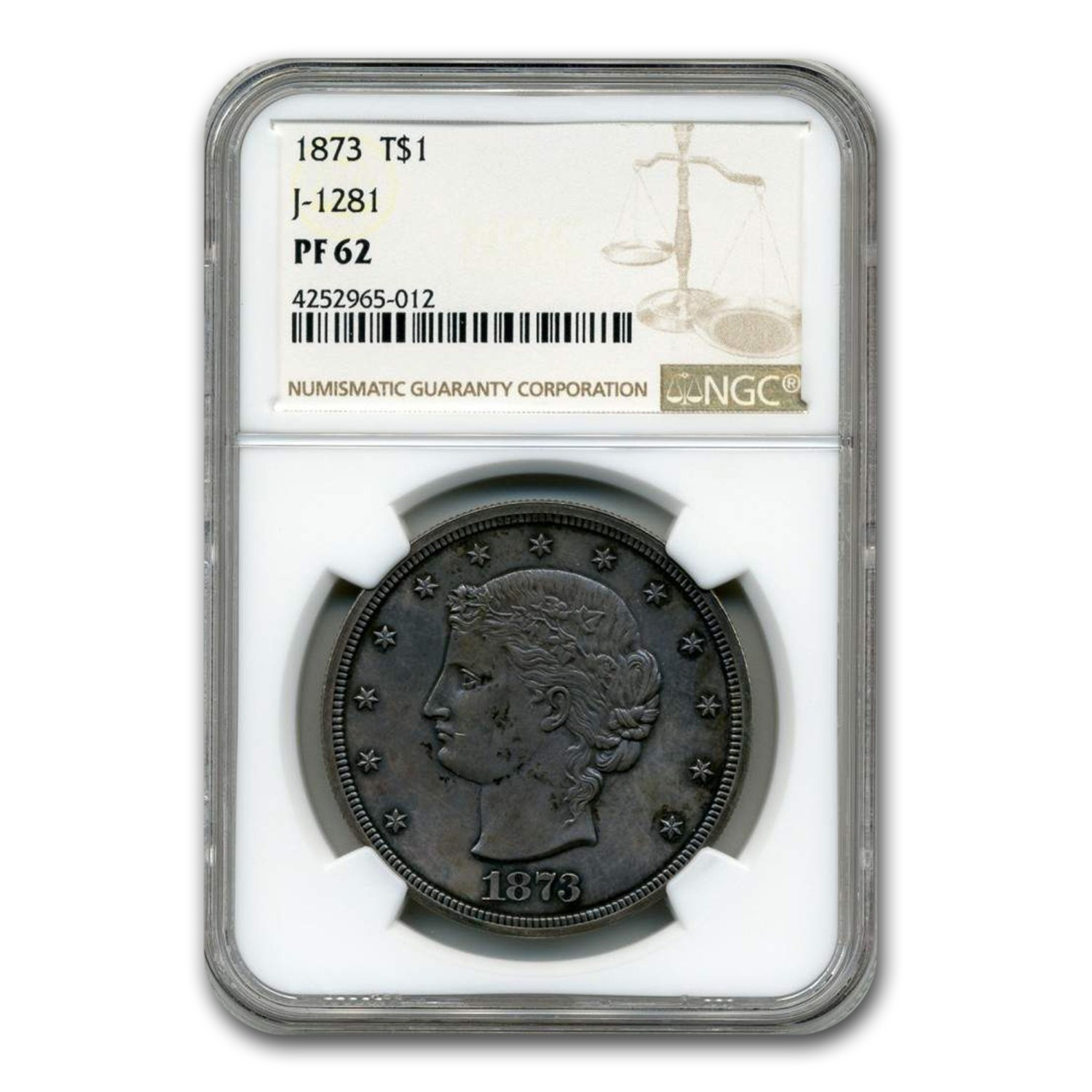 1873 Trade Dollar Pattern PF-62 NGC (Judd-1281)