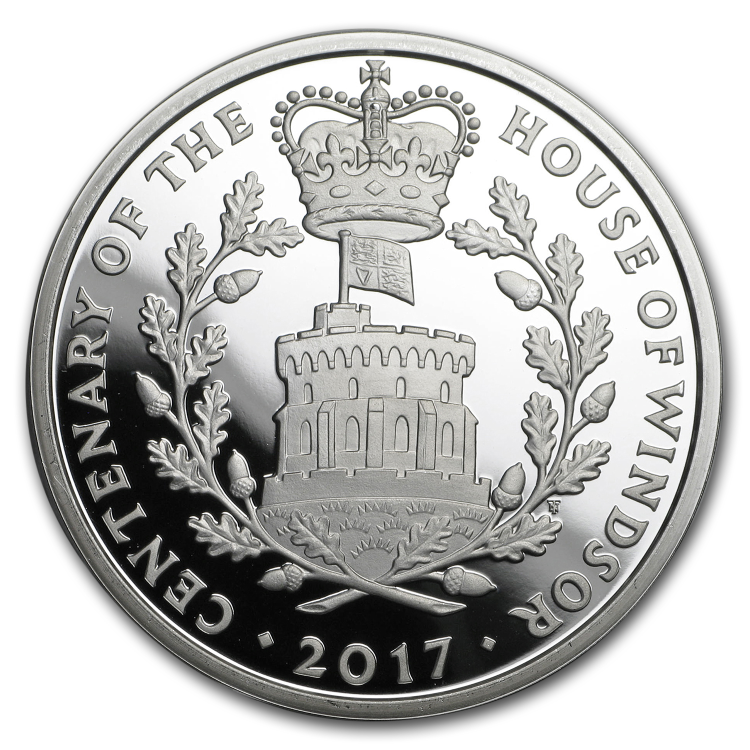 2017 Great Britain £5 Proof Silver House of Windsor Piedfort