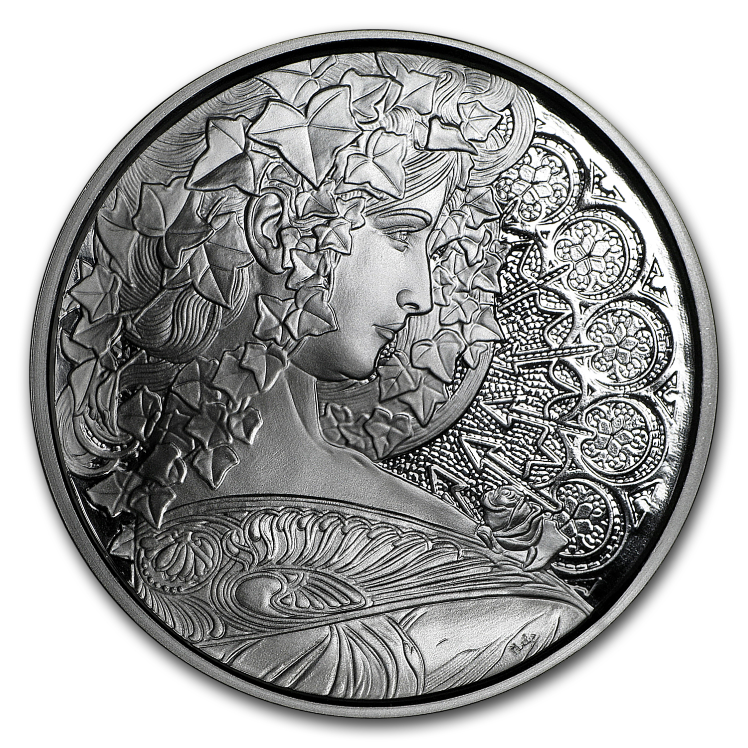 1 oz Silver Proof Round Mucha Collection (Ivy)