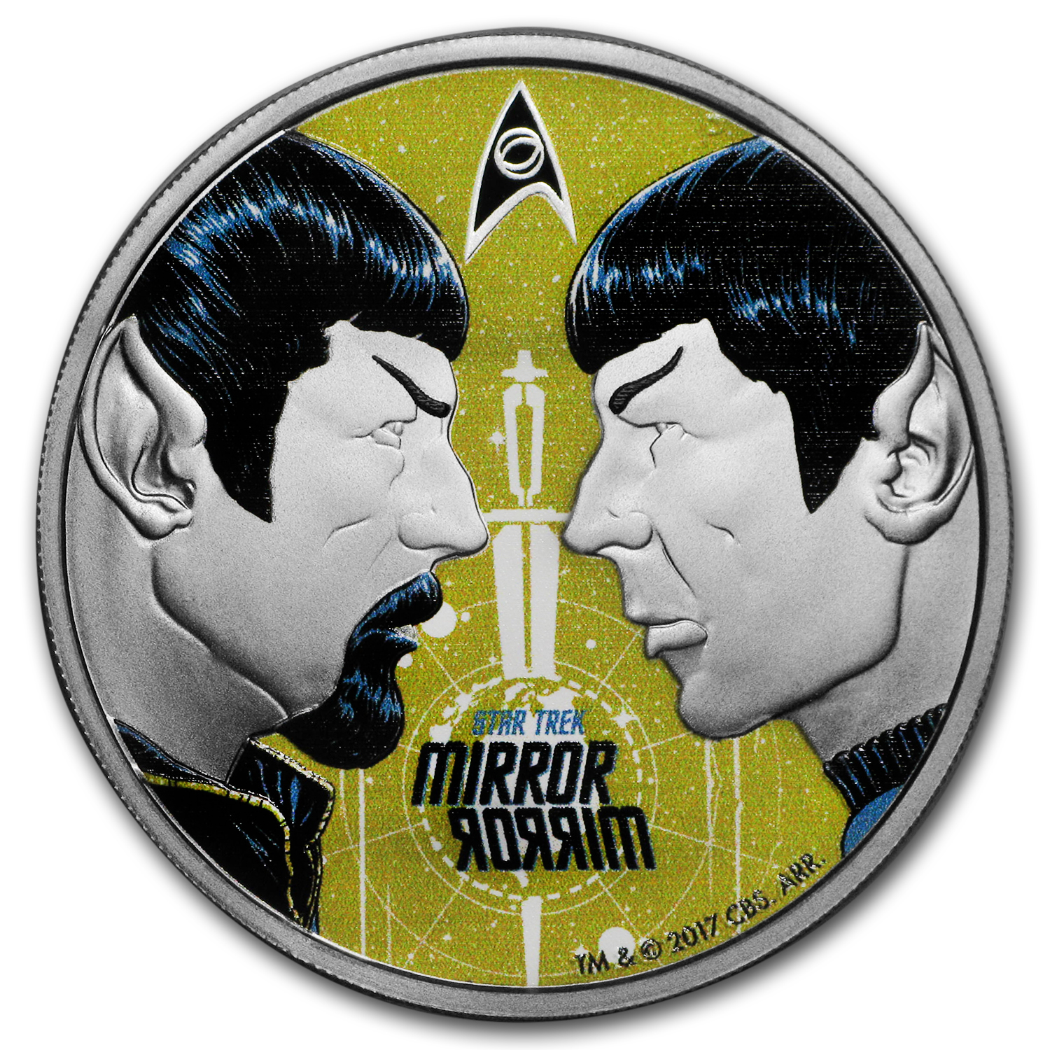 2017 Tuvalu 1 oz Silver Proof Star Trek: Mirror Mirror