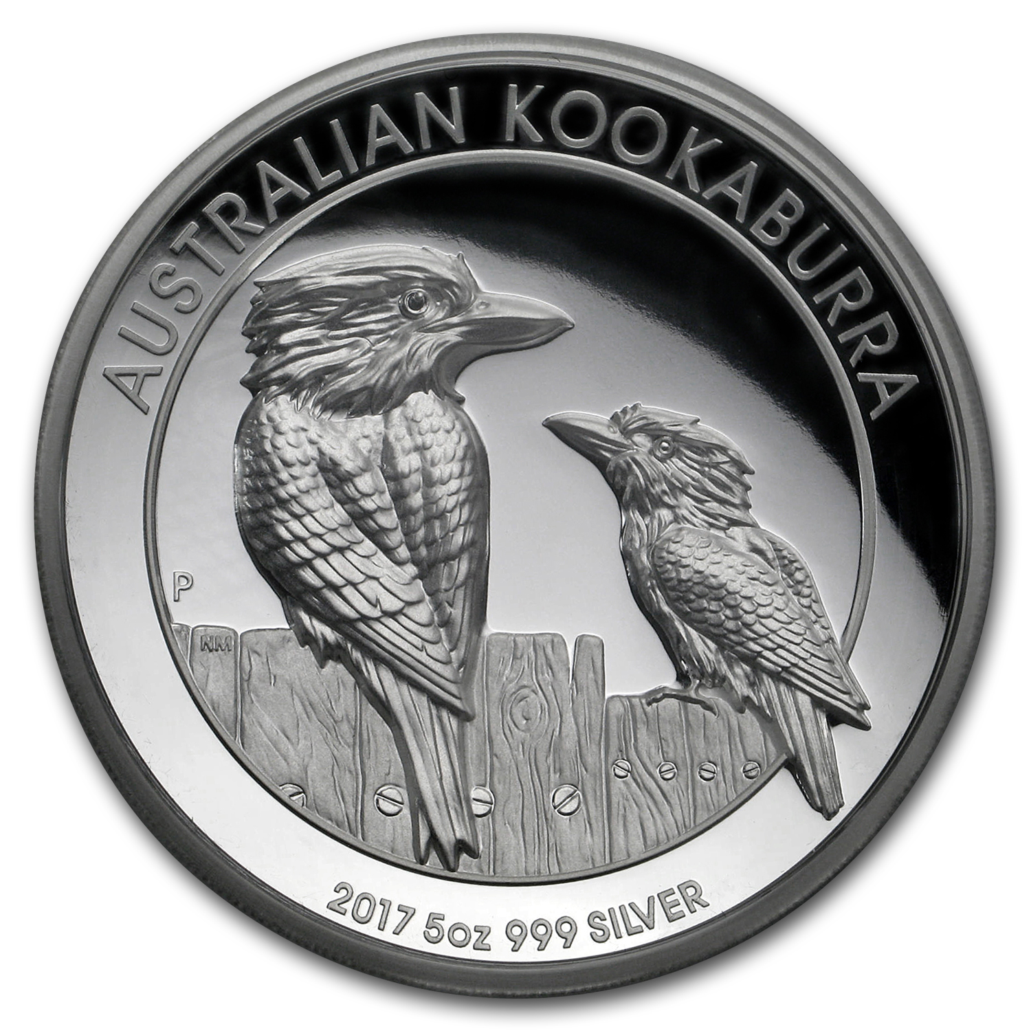 2017 Australia 5 oz Silver Kookaburra Proof (High Relief)
