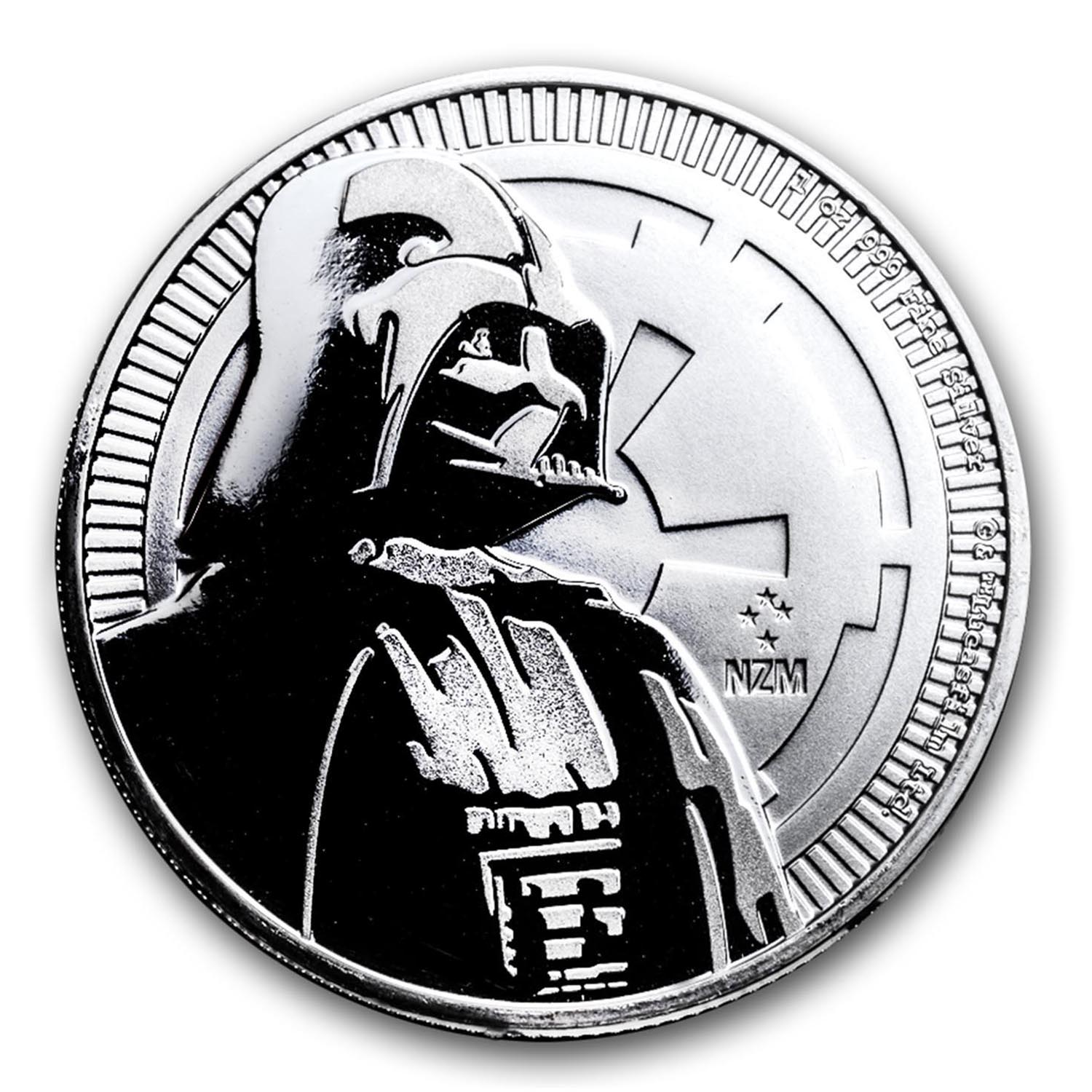 2017 Niue 1 oz Silver $2 Star Wars Darth Vader BU