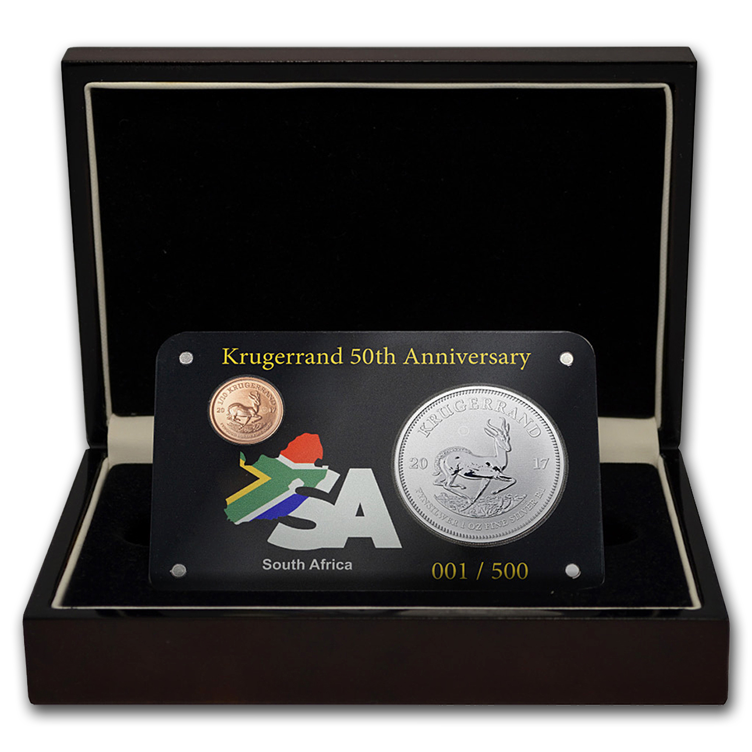 2017 South Africa 2-Coin Krugerrand Premium 50th Anniversary Set