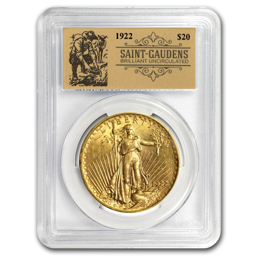 1922 20 saint gaudens gold double eagle bu pcgs prospector pcgs 20 double eagles saint. Black Bedroom Furniture Sets. Home Design Ideas