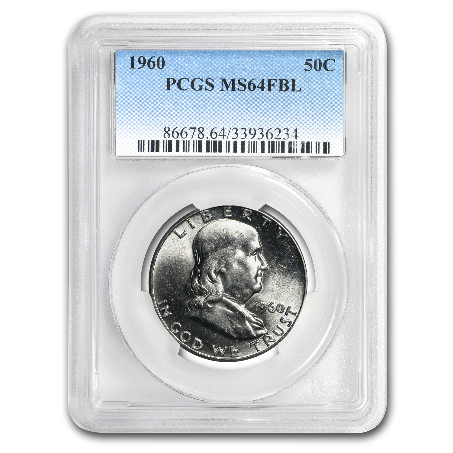 1960 Franklin Half Dollar MS-64 PCGS (FBL)