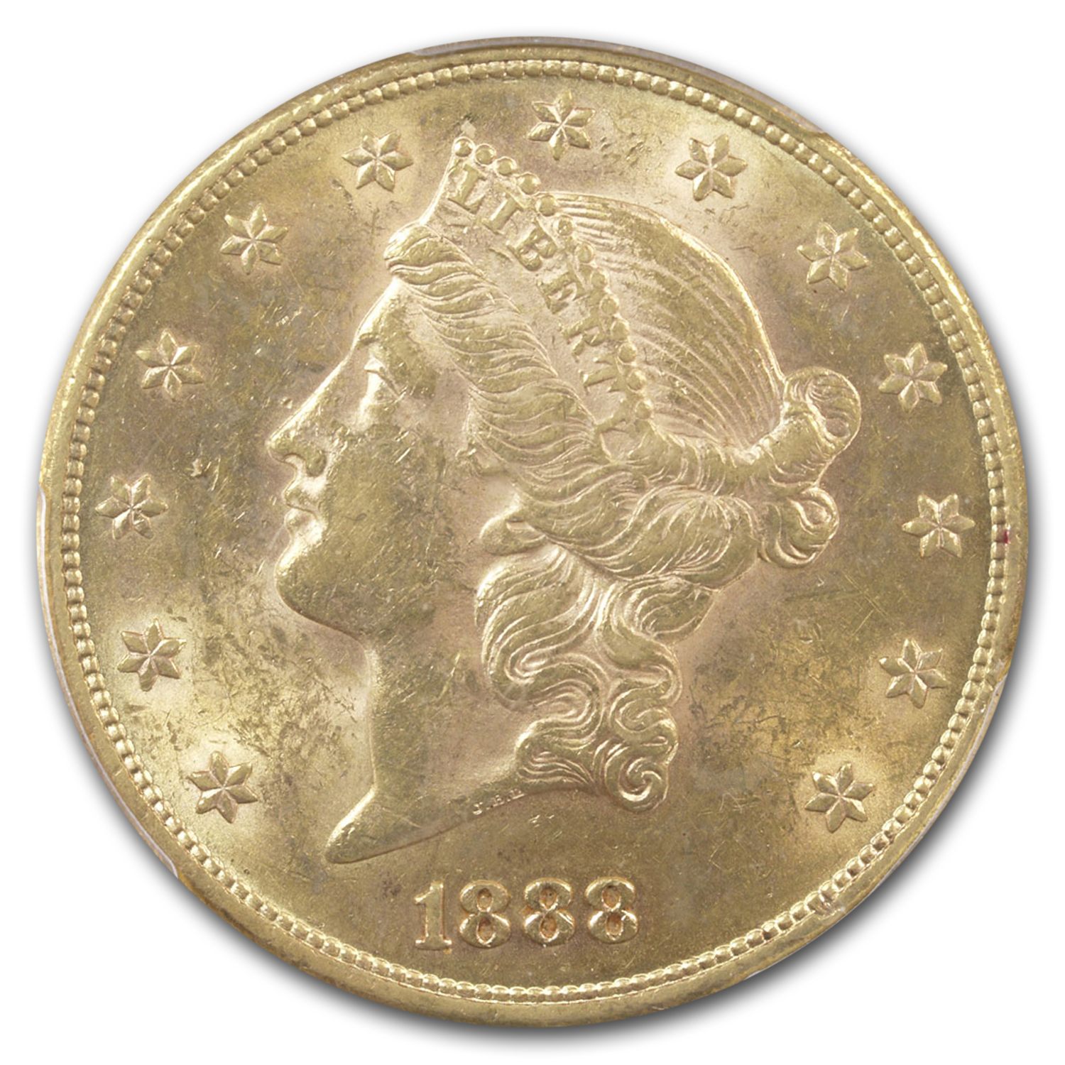 1888 $20 Liberty Gold Double Eagle MS-62 PCGS