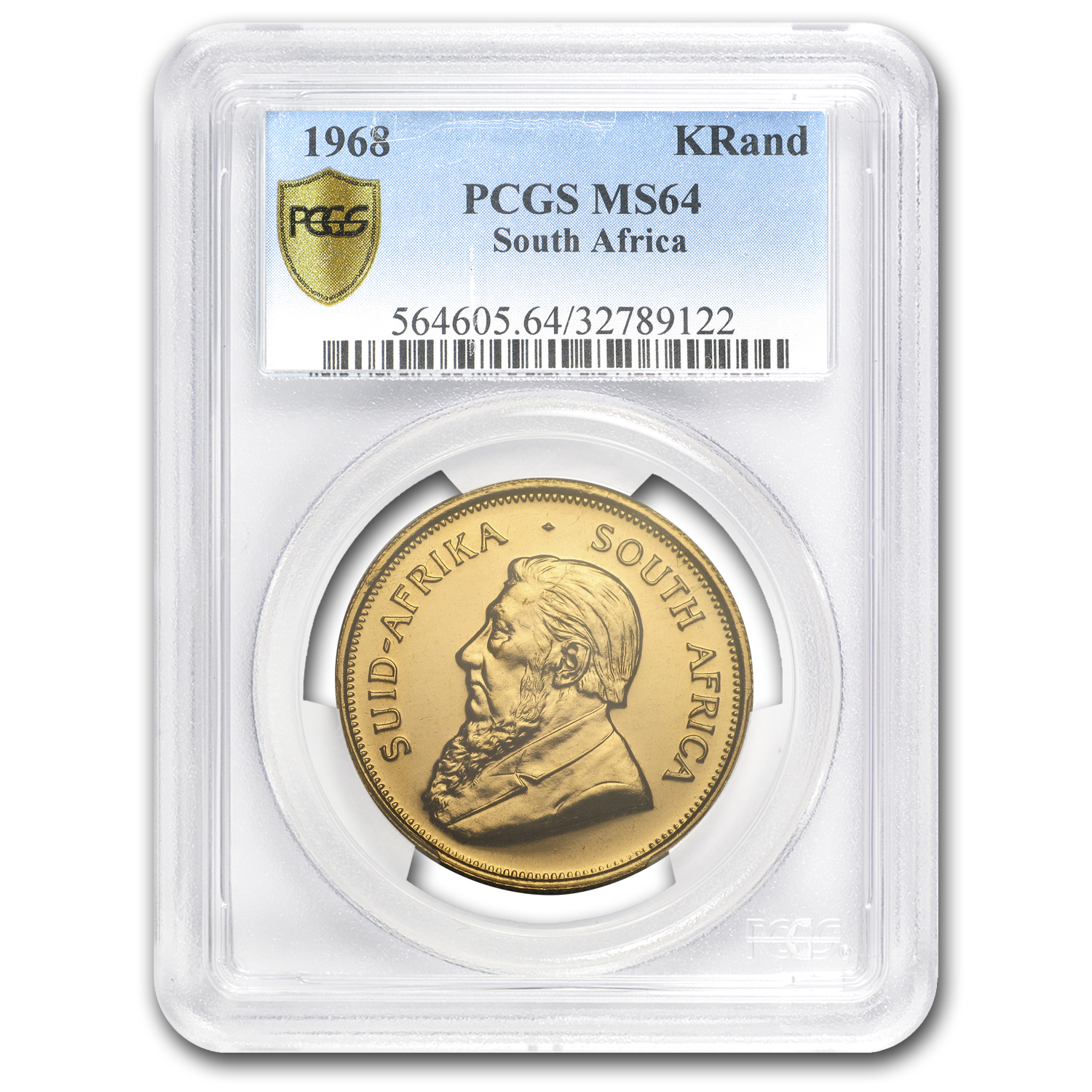 1968 South Africa 1 oz Gold Krugerrand MS-64 PCGS
