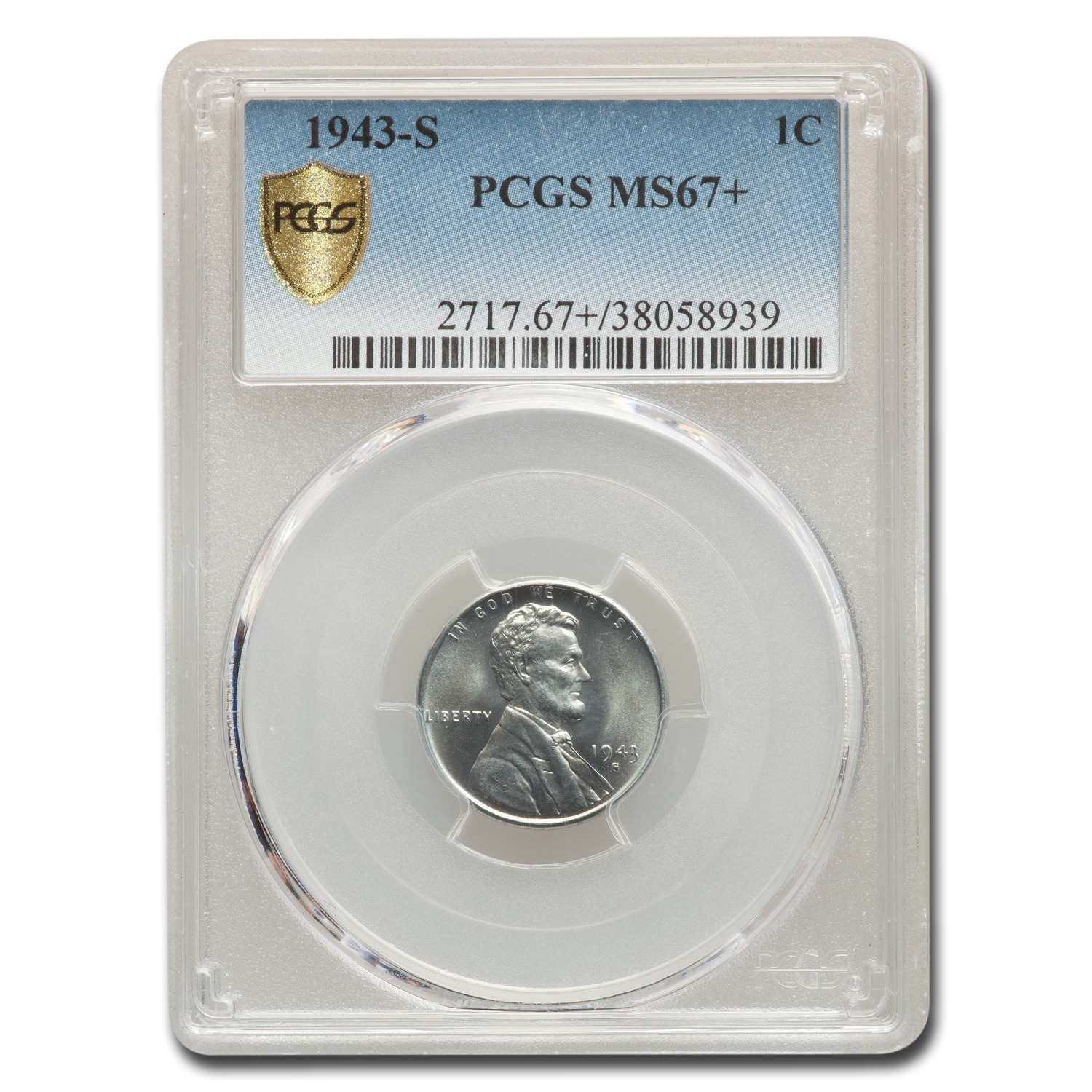 1943-S Lincoln Cent MS-67+ PCGS