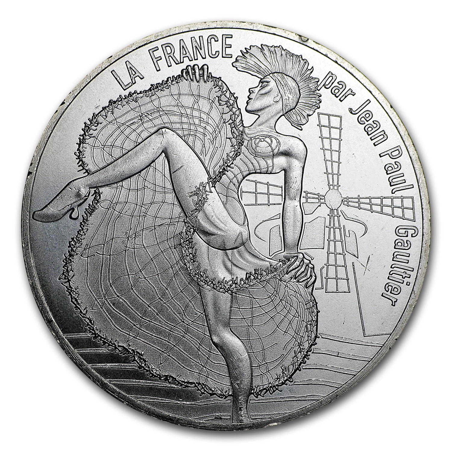2017 Proof Silver €10 Jean Paul Gaultier (Paris, capitale)