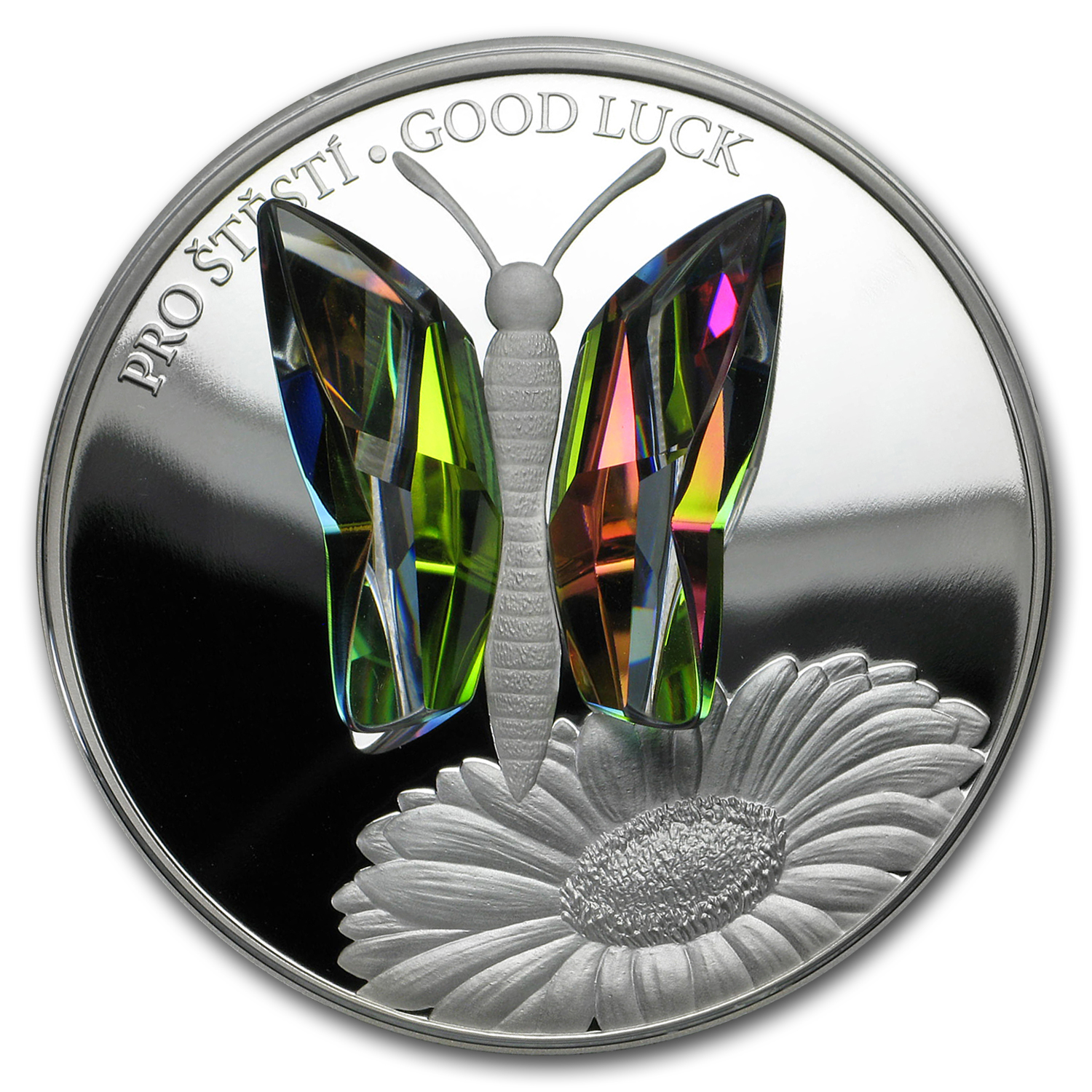 2016 Niue Silver Crystal Coin First Series Good Luck