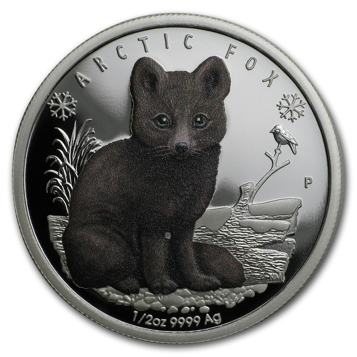 2017 Tuvalu 1/2 oz Silver Proof Polar Babies: Arctic Fox