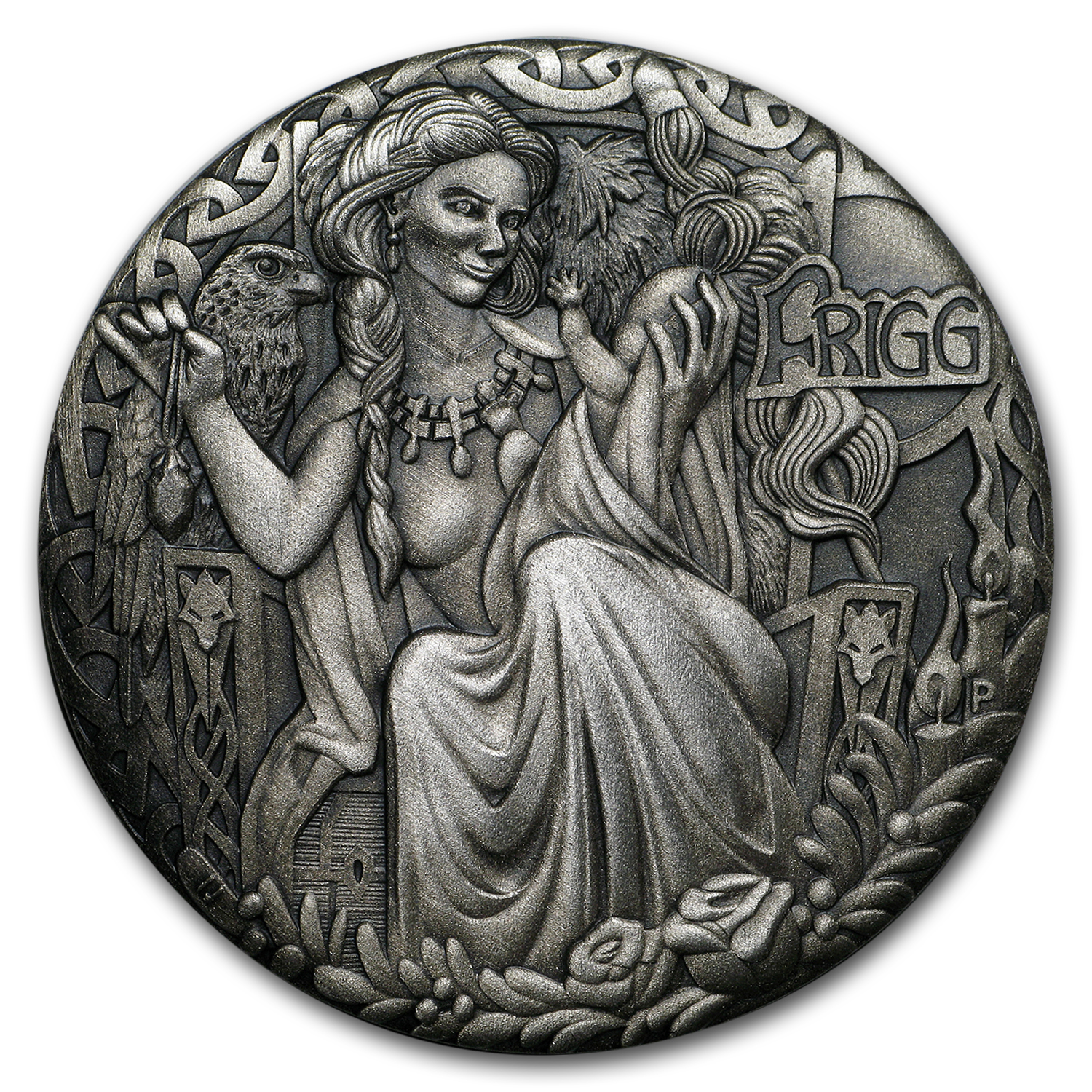 2017 Tuvalu 2 oz Silver Norse Goddesses: Frigg (High Relief)