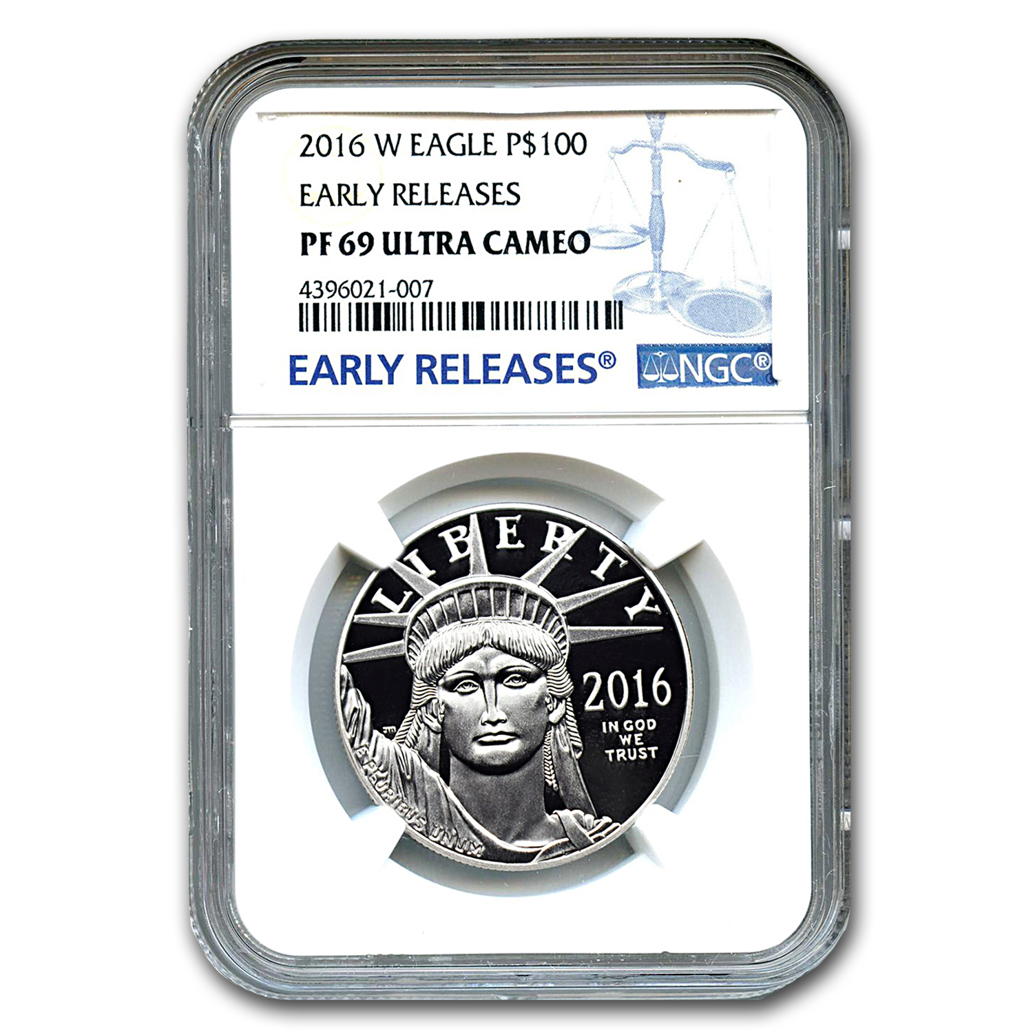 2016-W 1 oz Proof Platinum Eagle PF-69 UCAM NGC (ER)