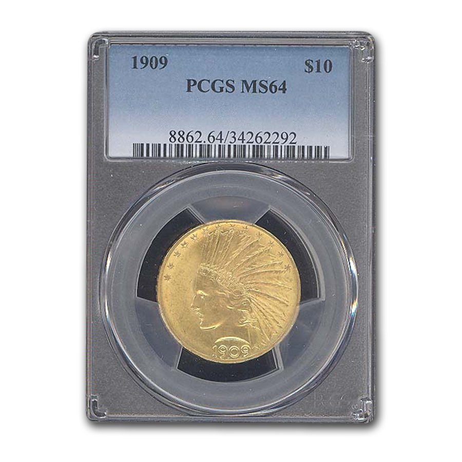 1909 $10 Indian Gold Eagle MS-64 PCGS
