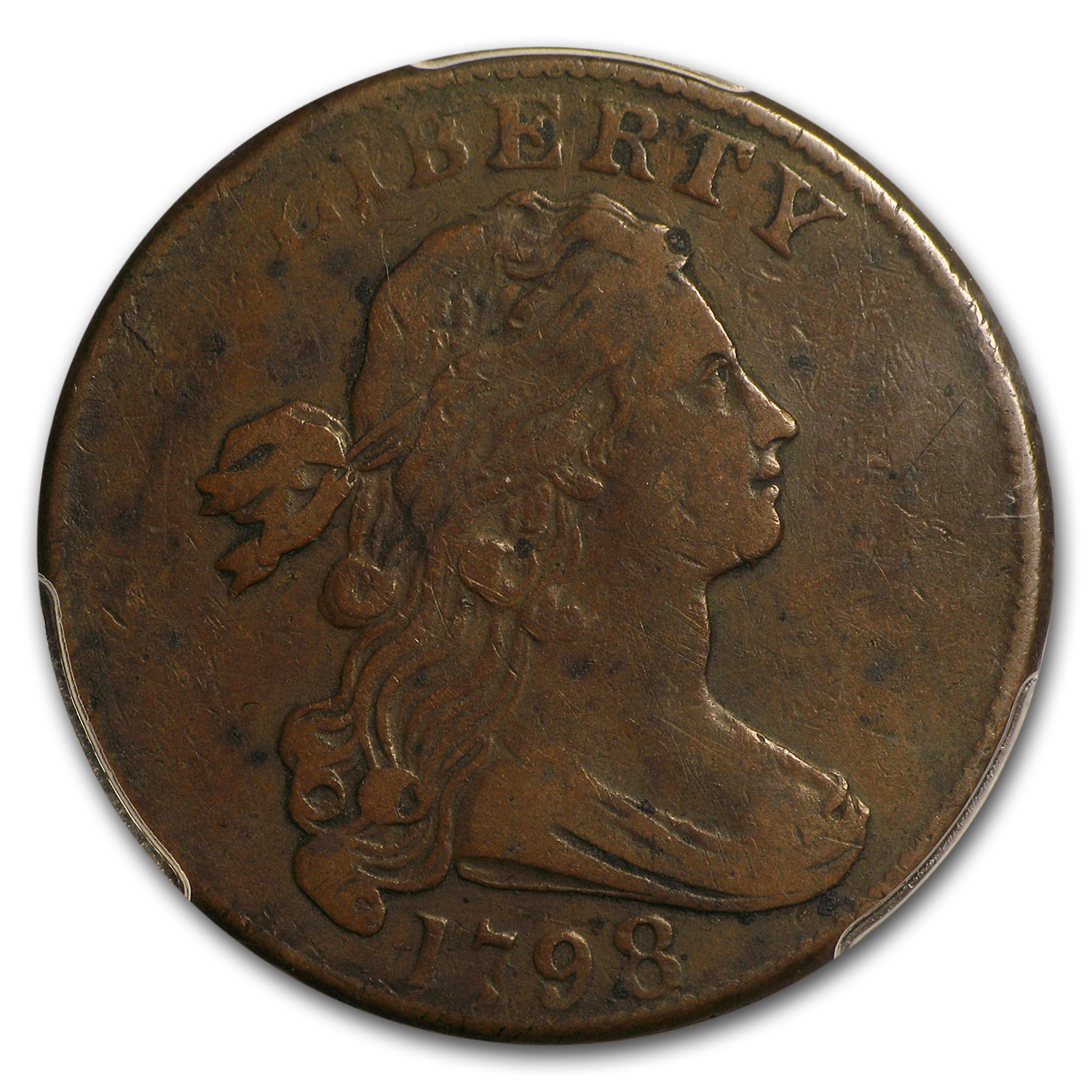 1798 Large Cent 2nd Hairstyle VF-20 PCGS (S.166)