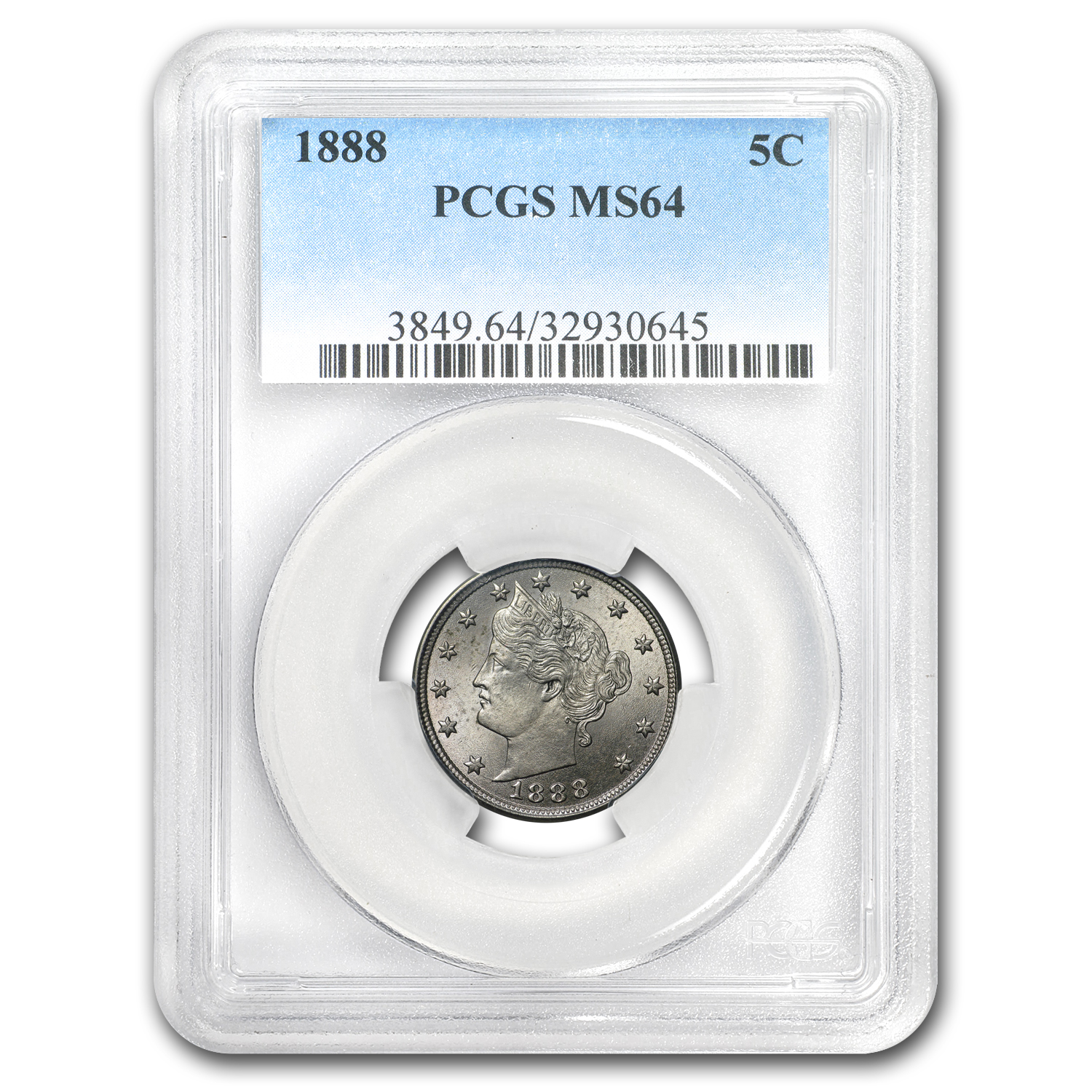 1888 Liberty Nickel MS-64 PCGS