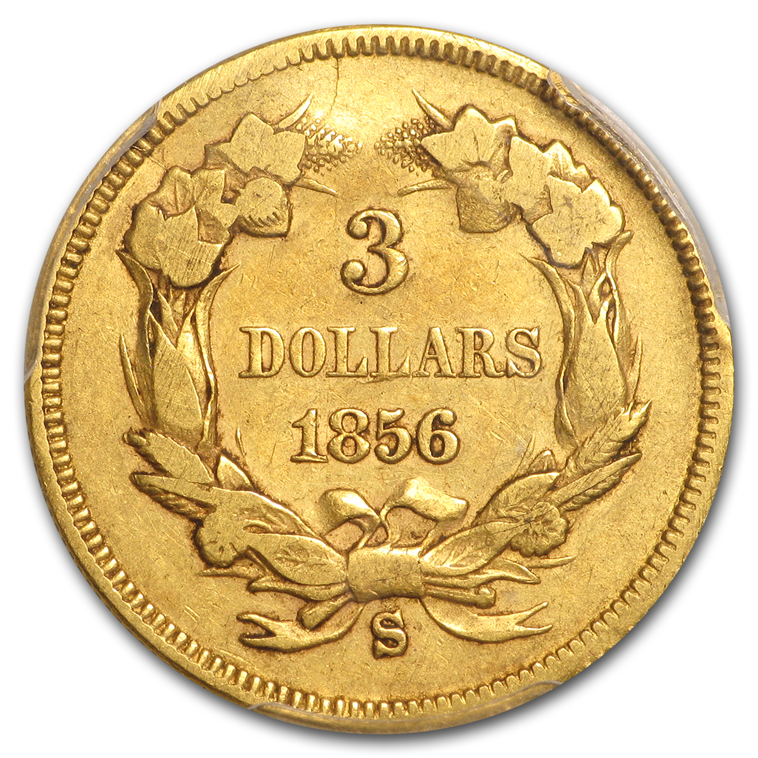 1856-S $3 Gold Princess VF-30 PCGS