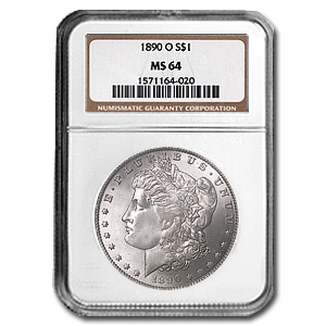 1890-O Morgan Dollar MS-64 NGC