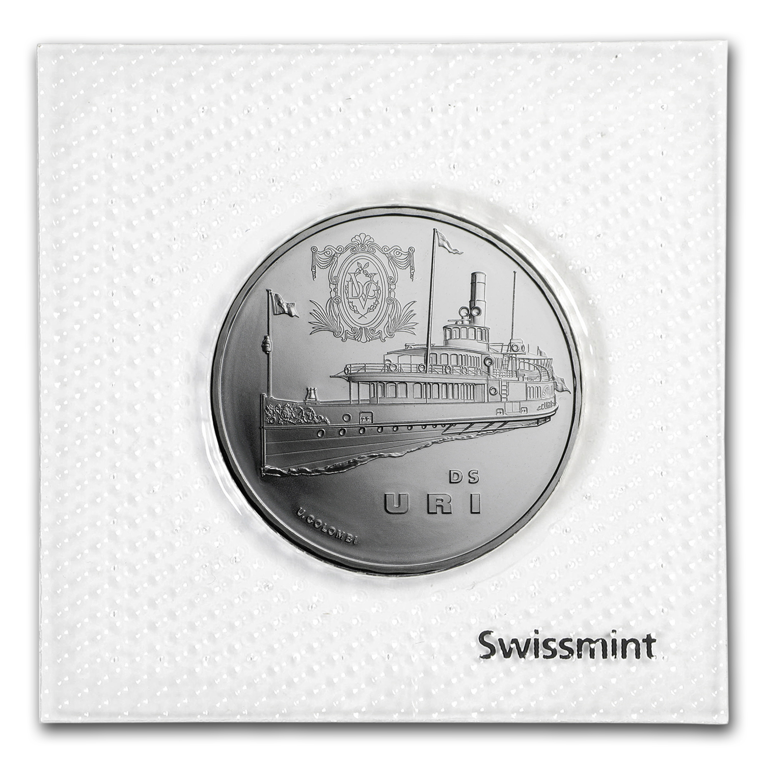 2017 Switzerland Silver 20 CHF Steamboat Uri BU
