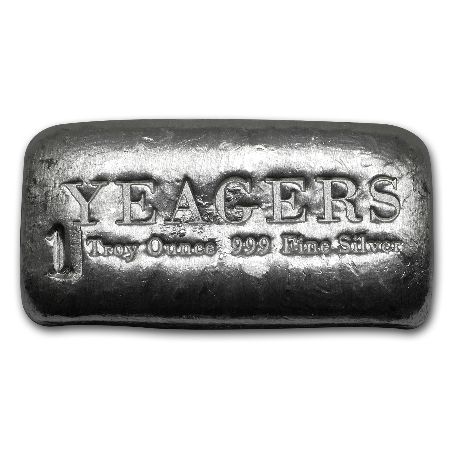 1 oz Silver Bar - Yeager Poured Silver (Bare Bones Bullion)