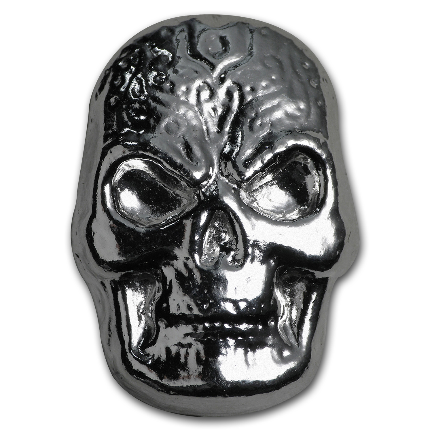 1 oz Silver - Yeager Poured Silver (Celtic Skull)