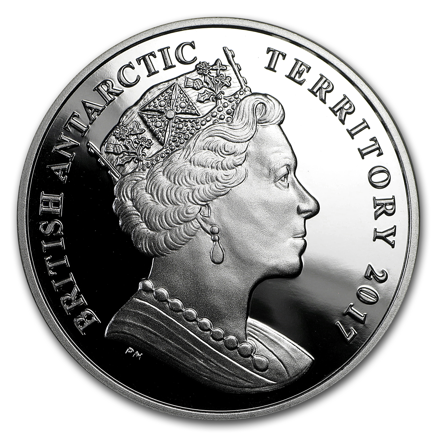 2017 British Antarctic Terr Silver £2 Larsen B Ice Shelf Hologram