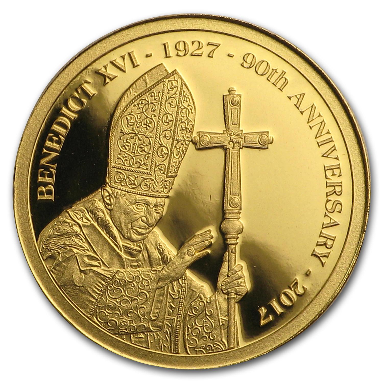 2017 Cook Islands 1 100 Oz Gold 90th Anniv Of Pope