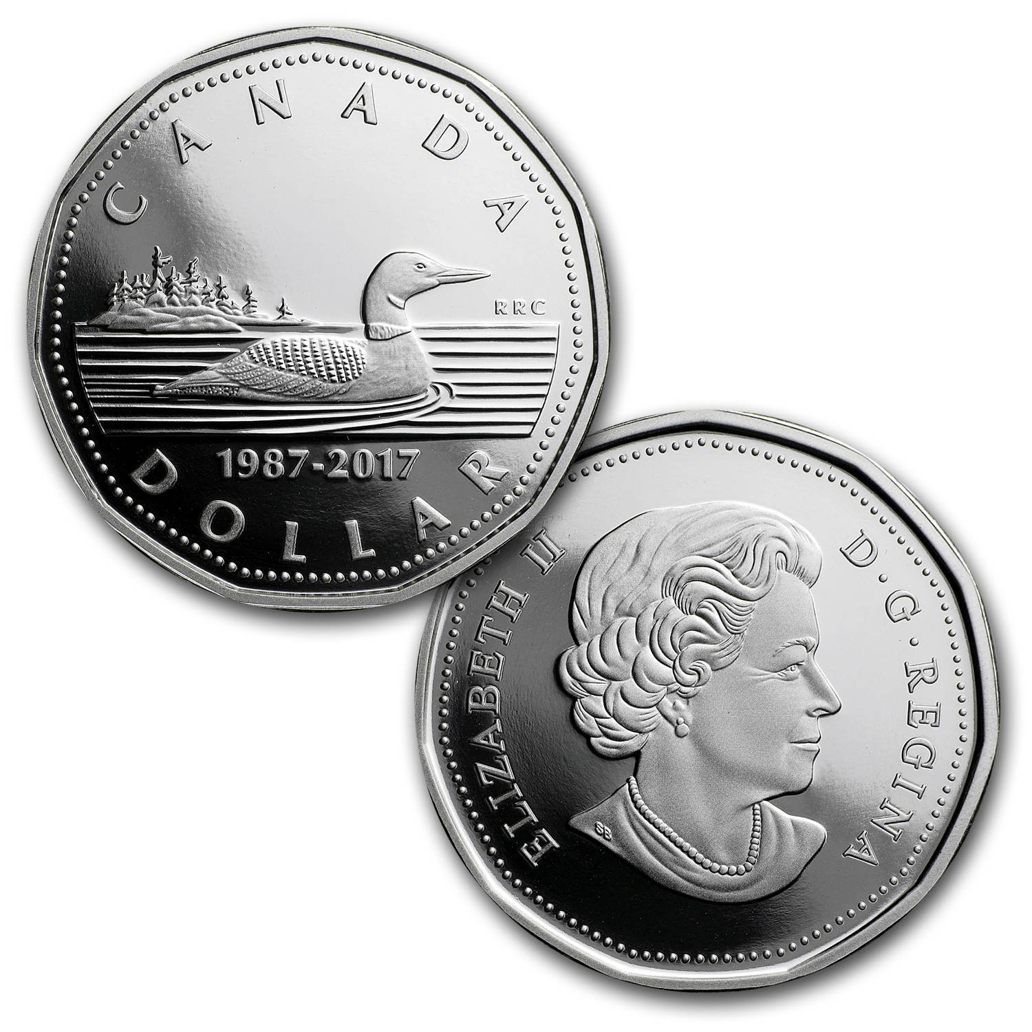 2017 Canada 2-Coin Silver Anniversary of the Loonie Set