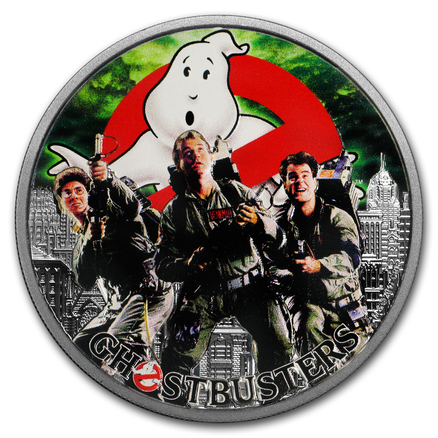 2017 Tuvalu 1 oz Silver Ghostbusters™ Crew