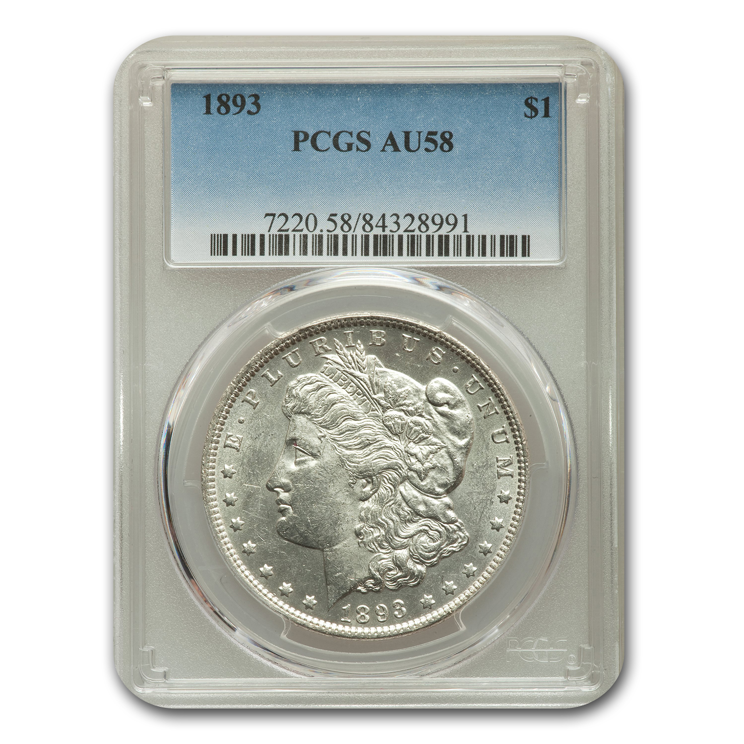 1893 Morgan Dollar AU-58 PCGS