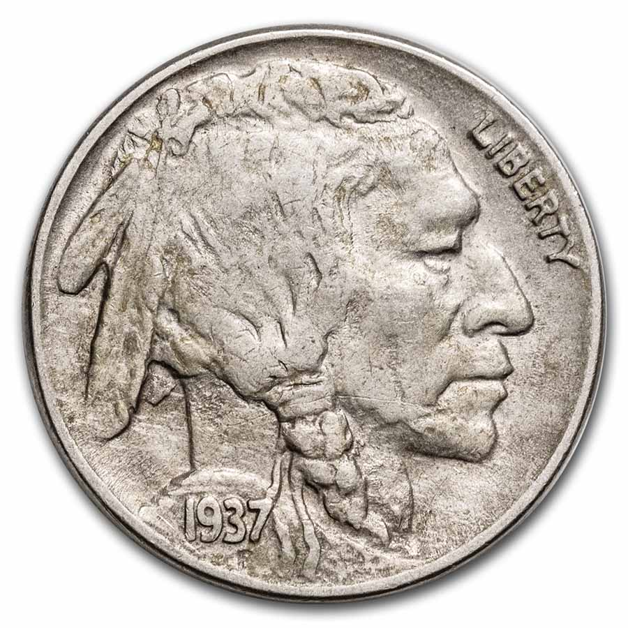 1937-D 3-Legged Buffalo Nickel Choice AU+