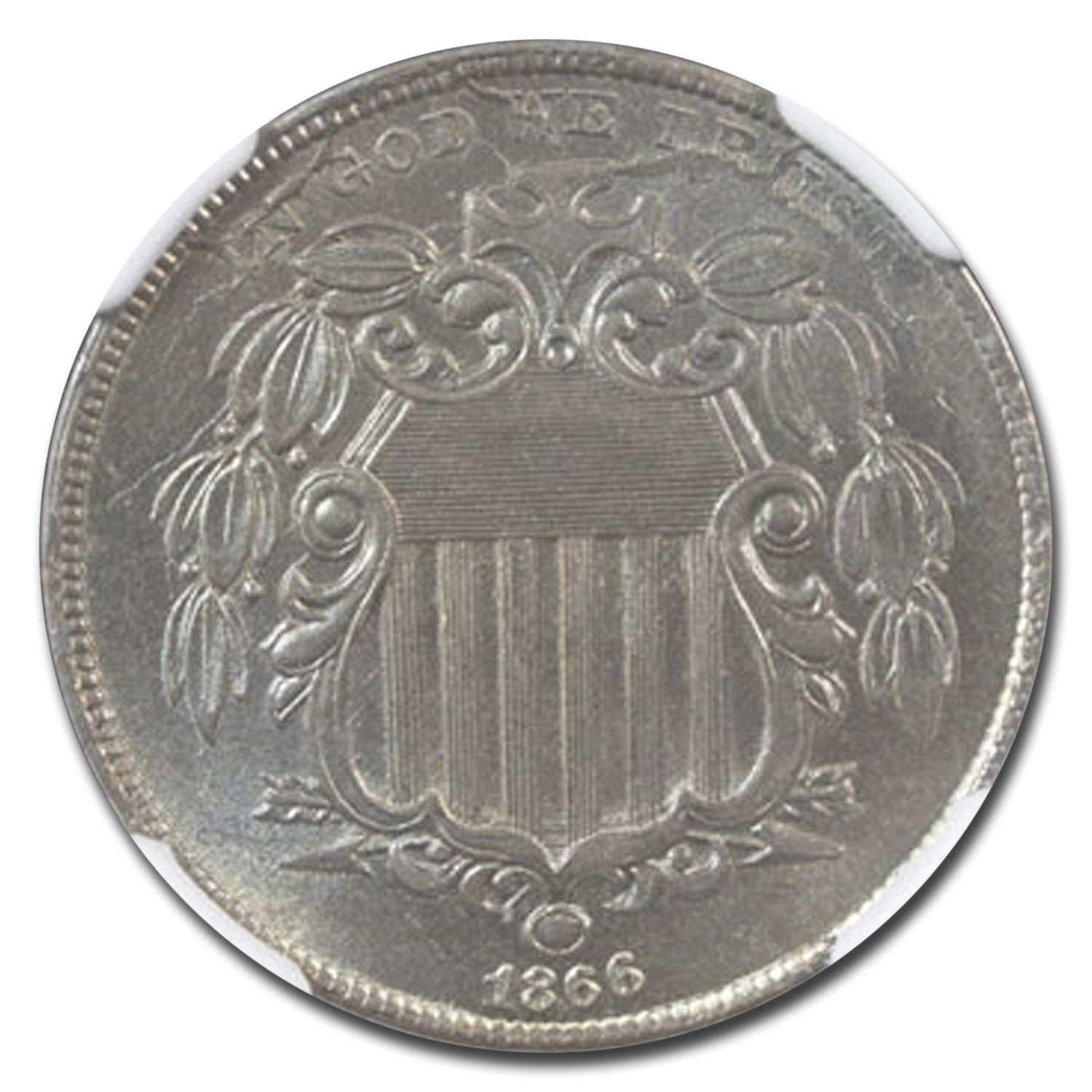 1866 Shield Nickel w/Rays MS-65 NGC