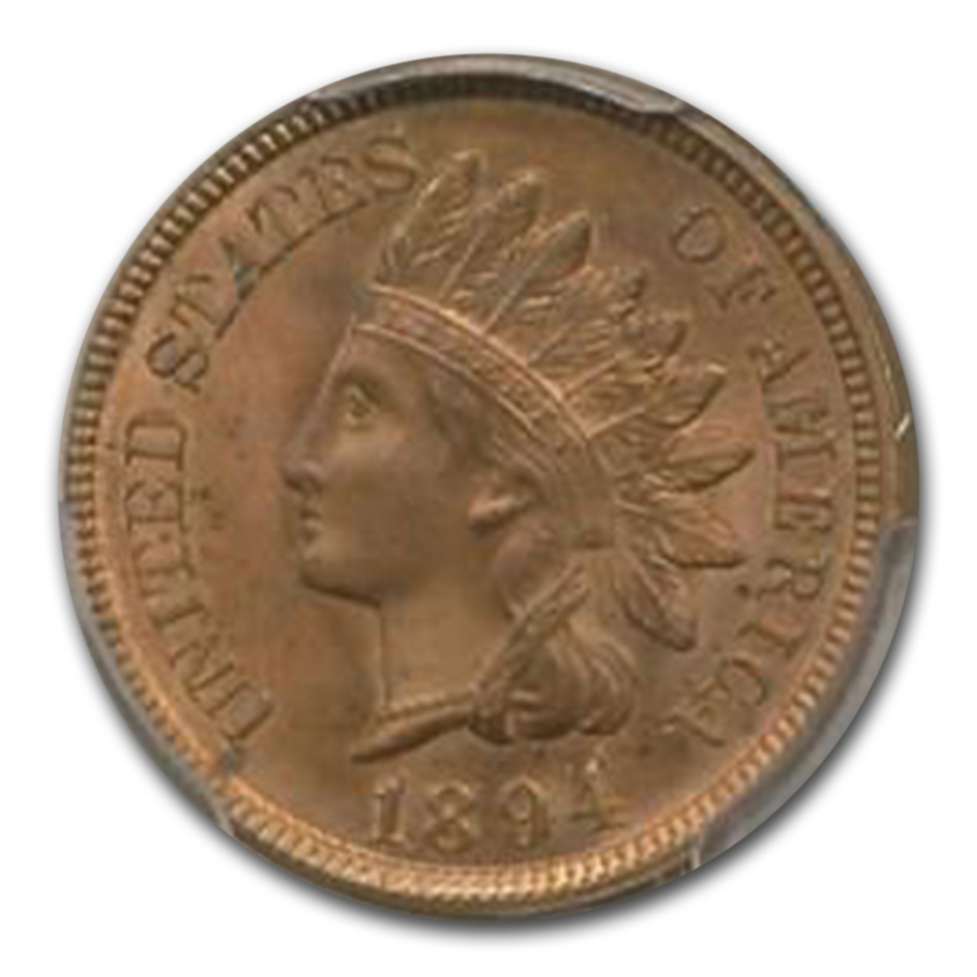 1894/1894 Indian Head Cent MS-64 PCGS CAC (Red/Brown)