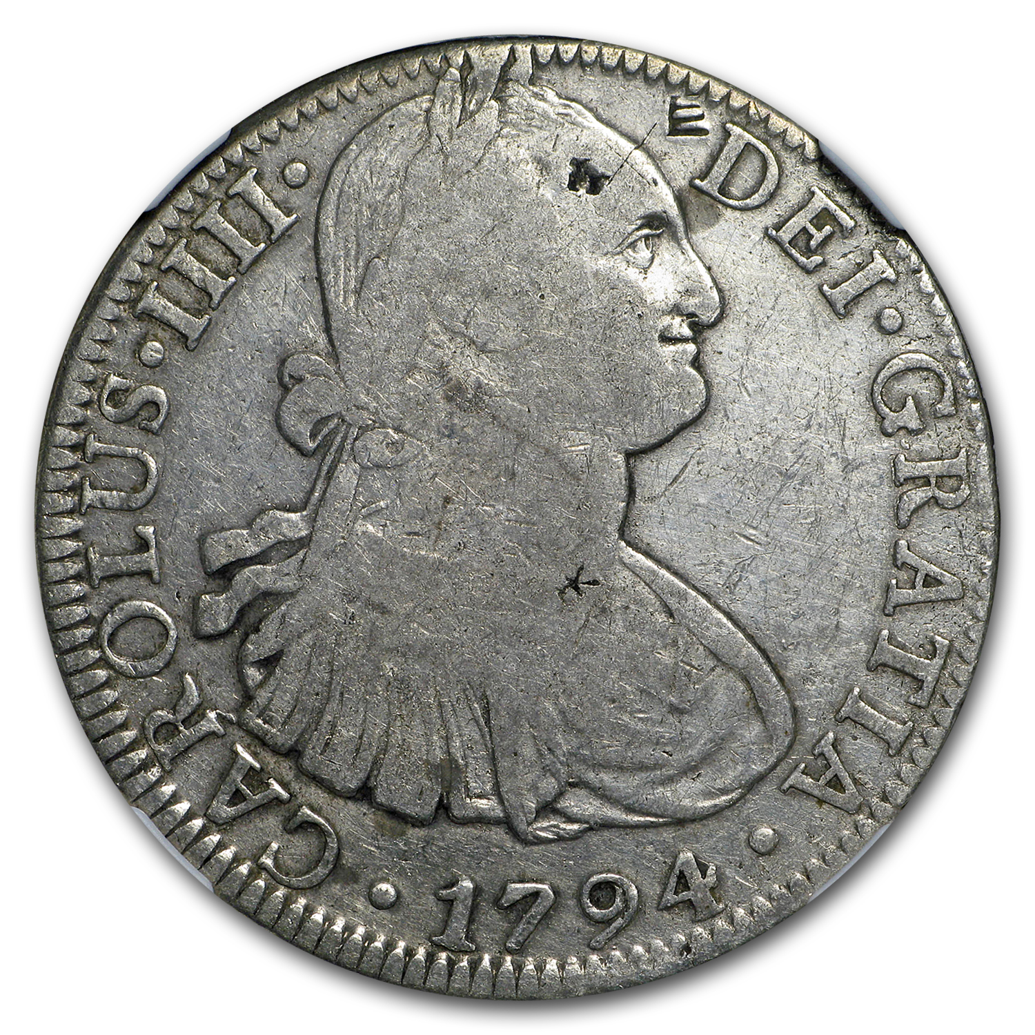 1794 Mo-FM Mexico Silver 8 Reales Charles IV VF Details NGC