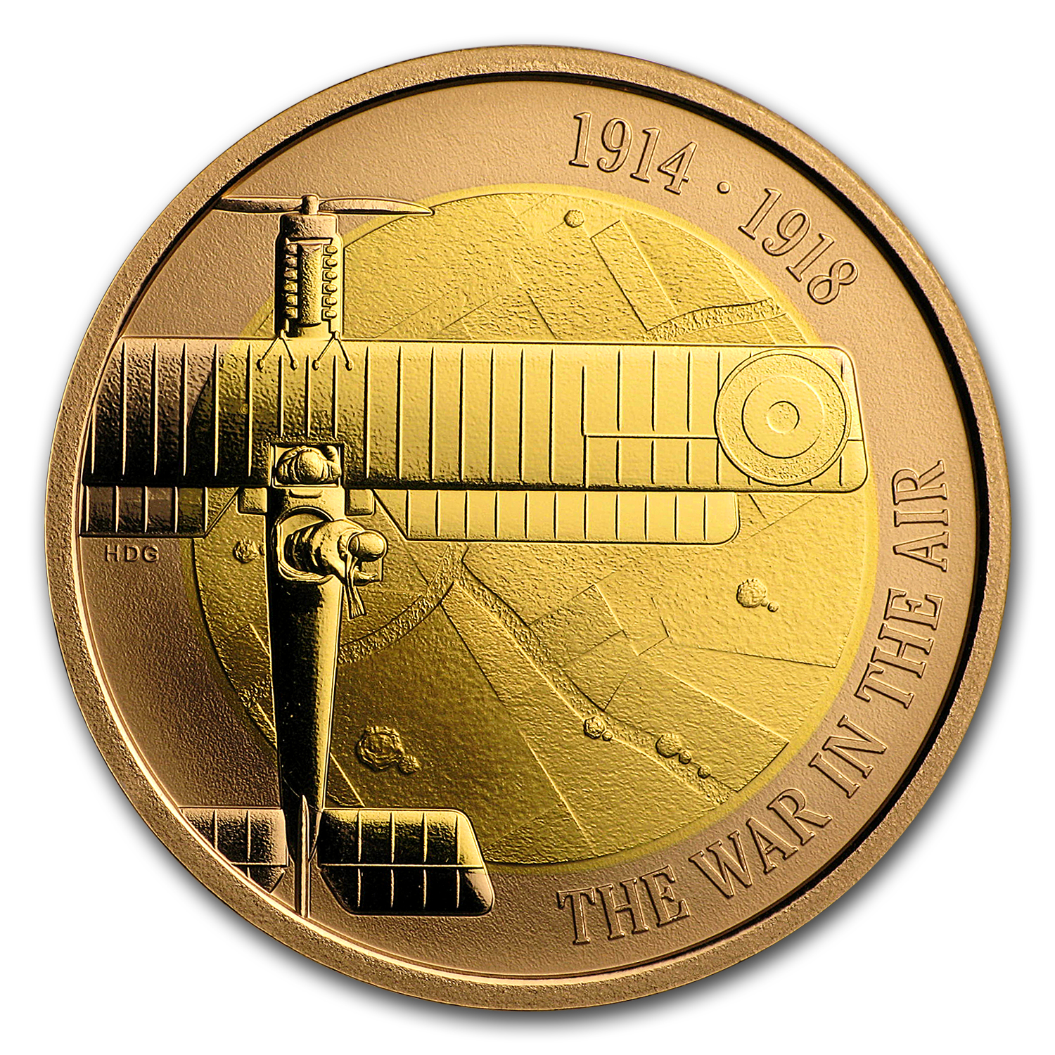 2017 Great Britain £2 Proof Gold First World War Aviation